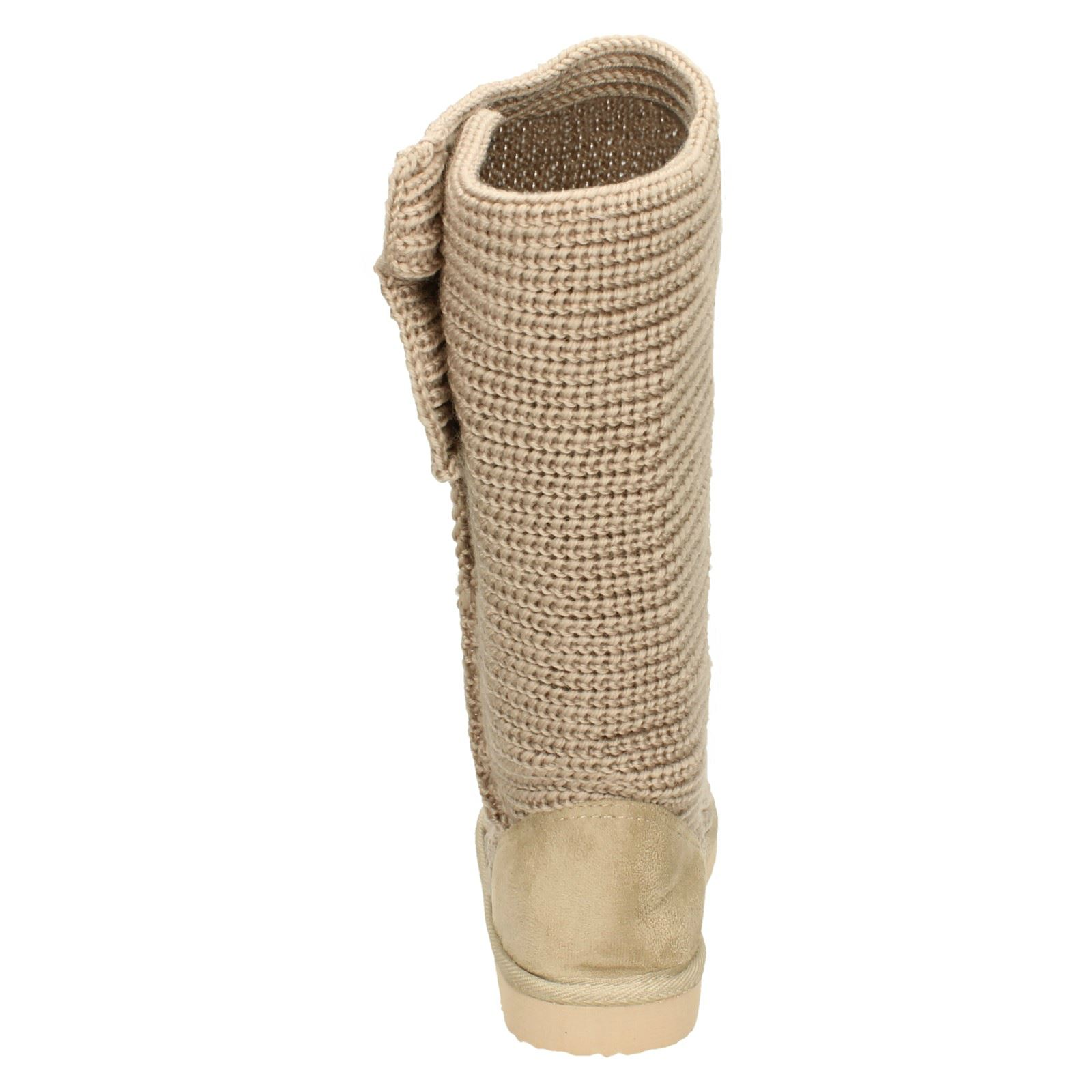 Spot On Girls Knitted Boots