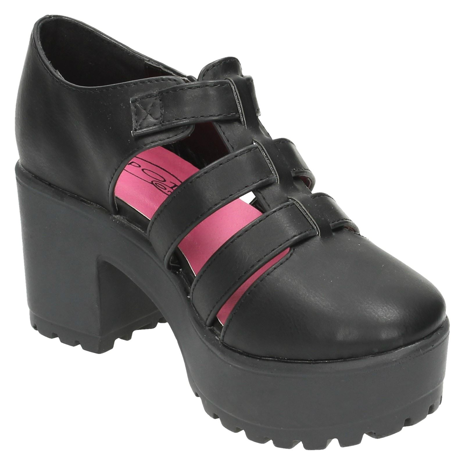 Girls Spot On High Platform Strappy Shoes