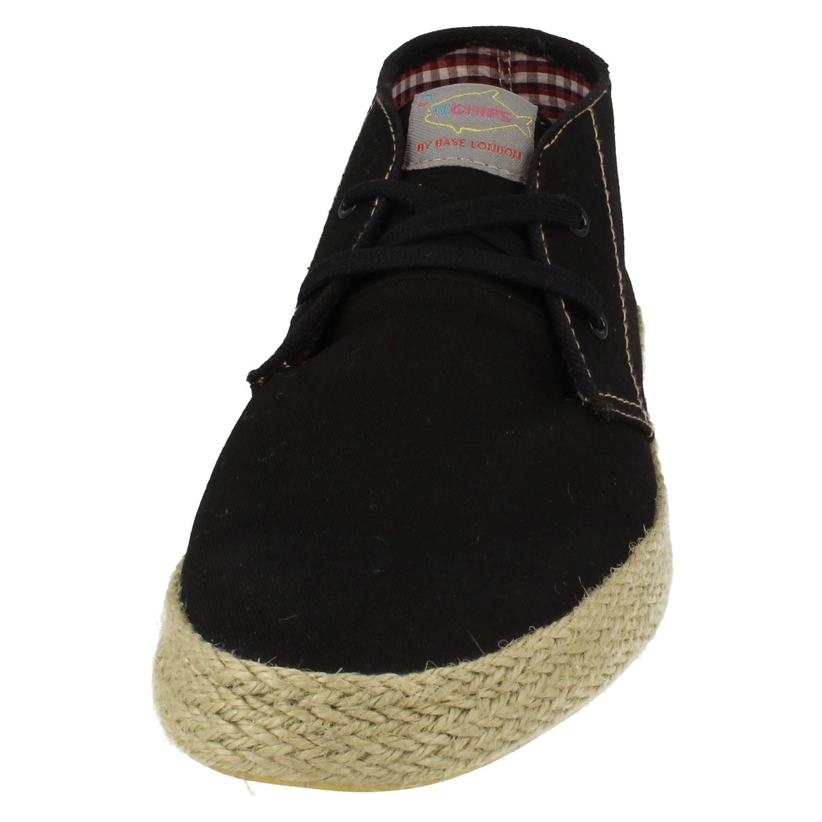HOMME POISSON/'N Chips par Base London Toile Chaussures Lilo *