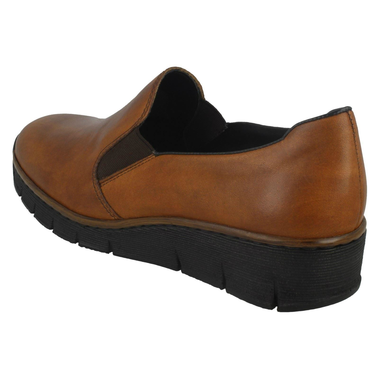 Femmes Rieker Synthétique à Enfiler Chaussures De Loisirs 53766 *