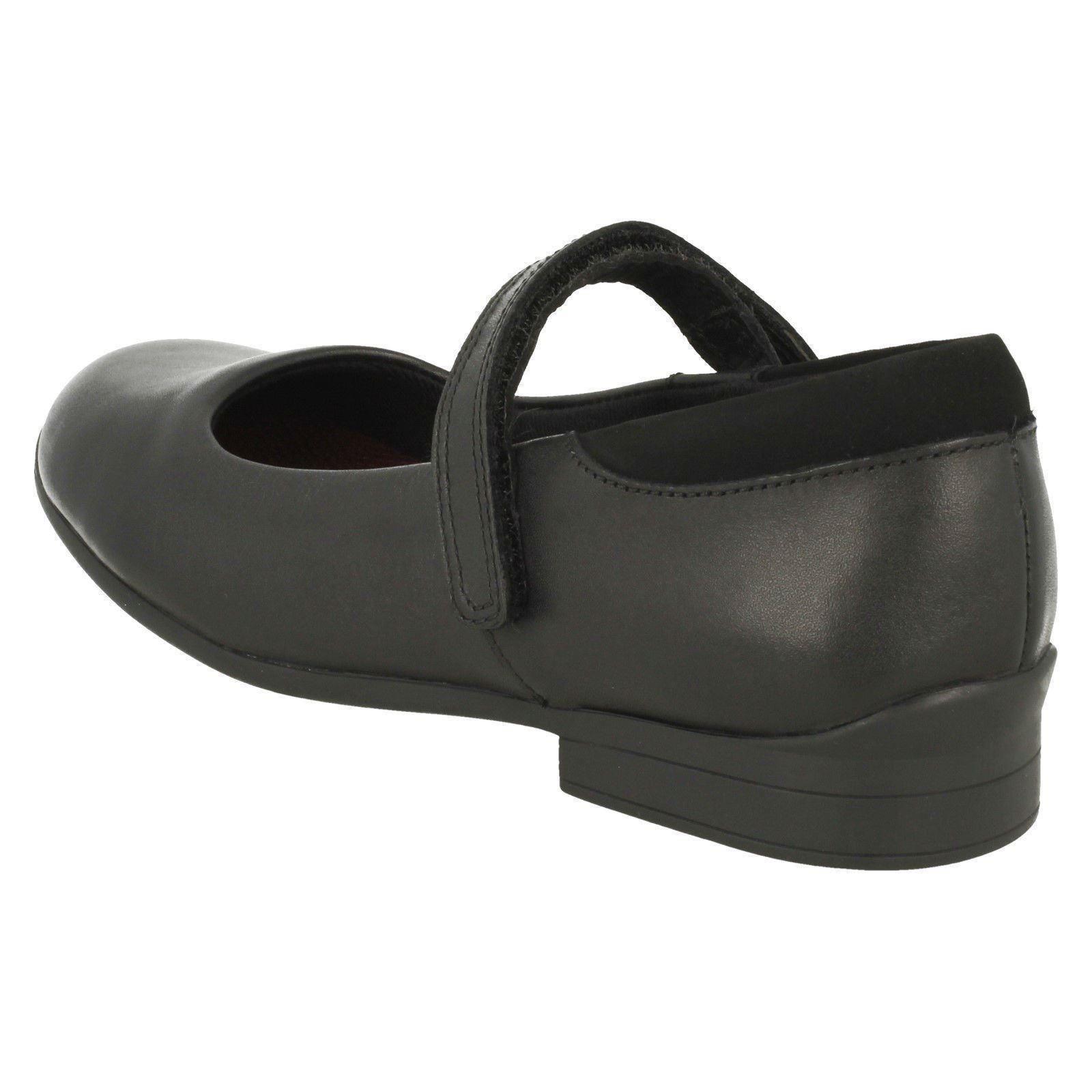 Girls Clarks Hook /& Loop School Shoes /'Jamie Star/'