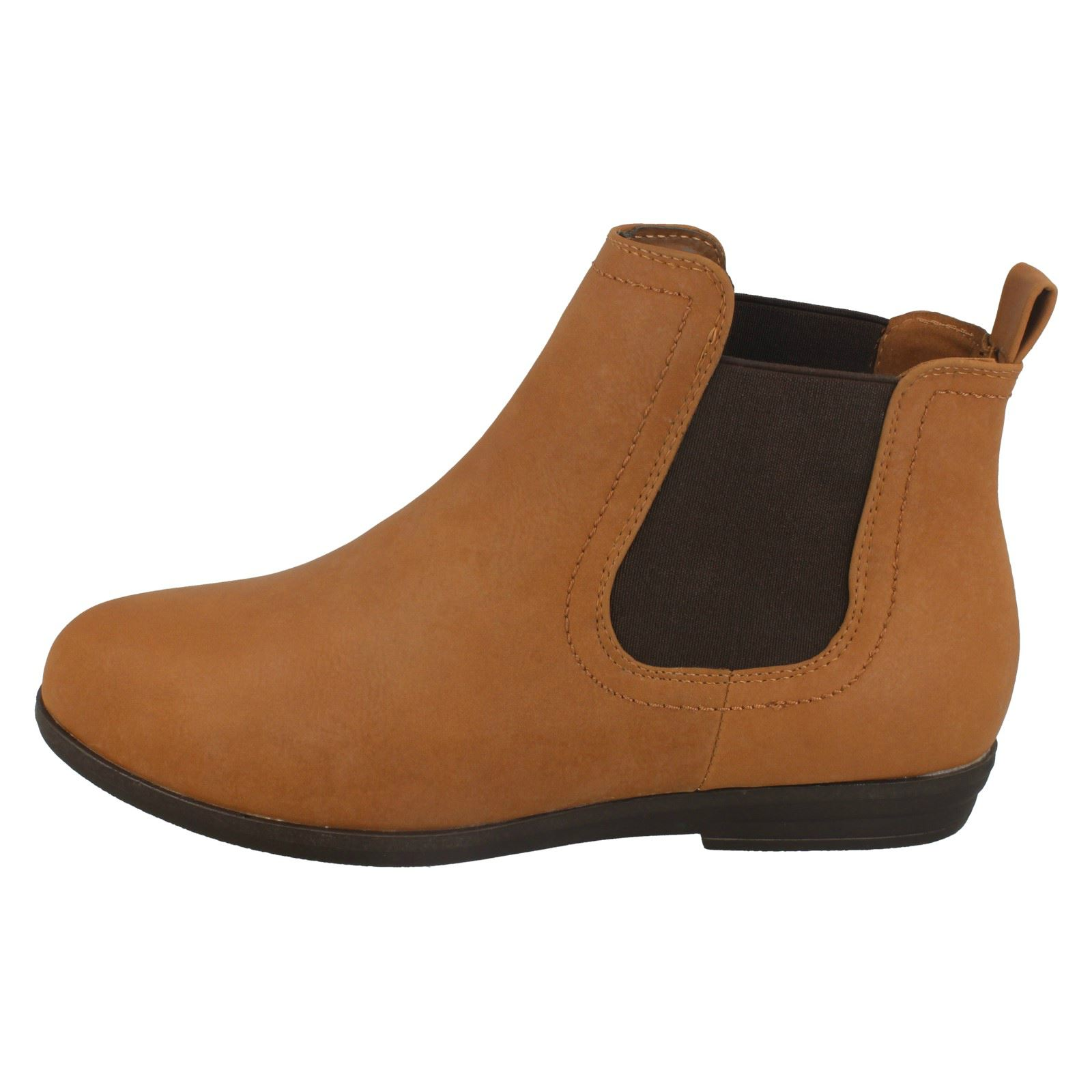 Spot On Low Heel Chelsea Style Ladies Ankle Boots