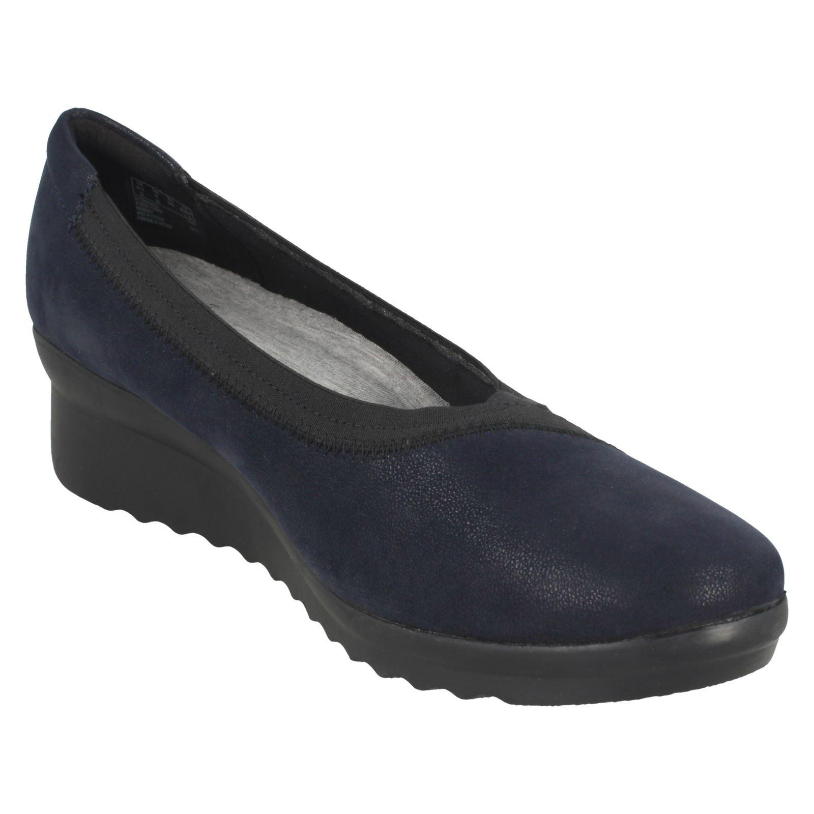 Ladies Clarks Caddell Dash Wedge Heeled Shoes