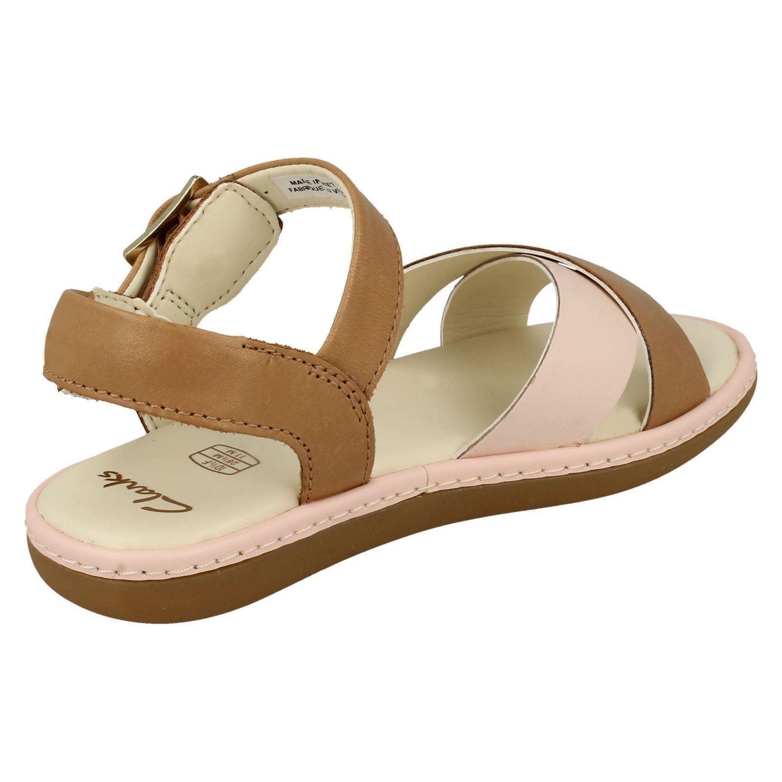 Girls Clarks Criss-Cross Detailed Sandals Skylark Pure K