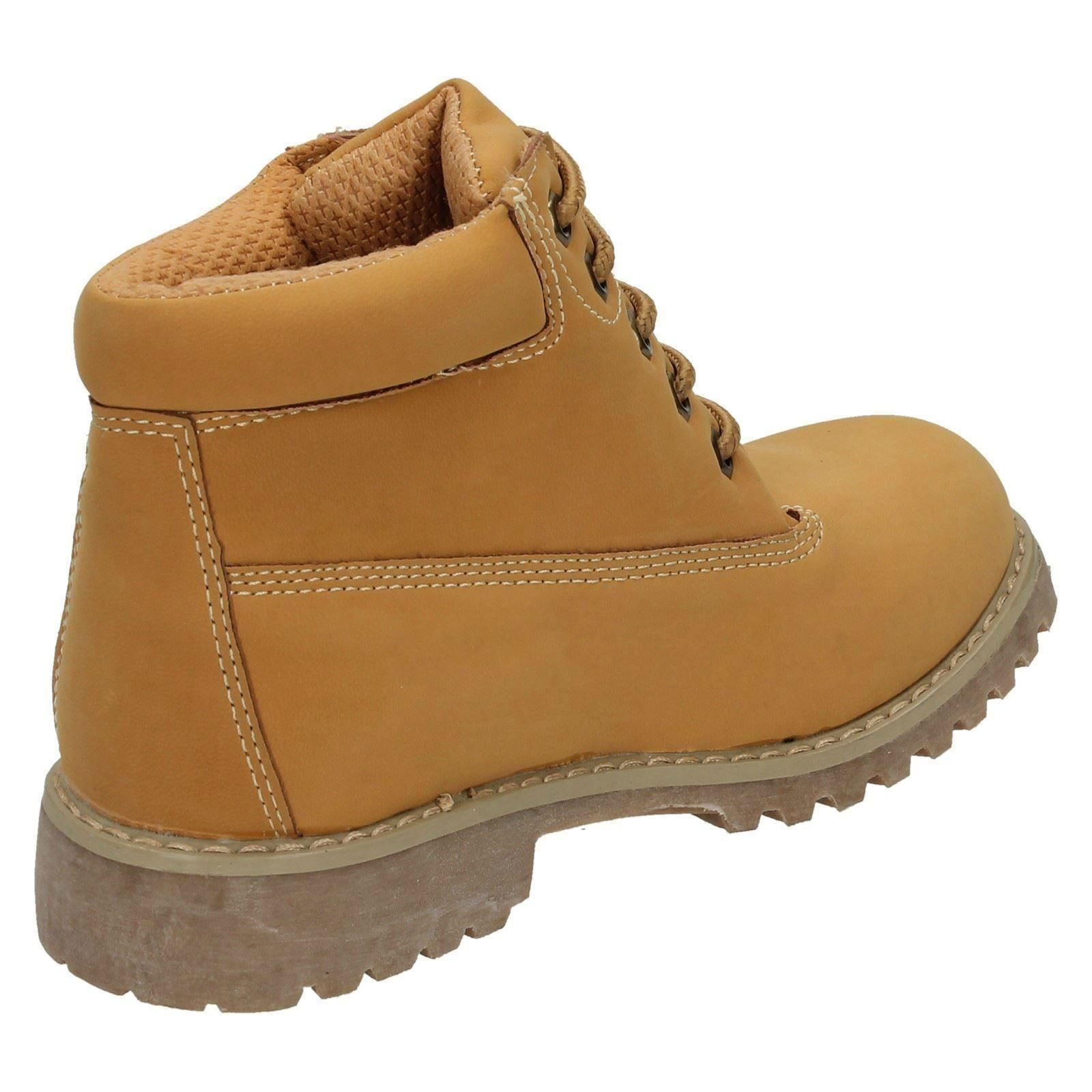 Childrens Spot On Unisex Casual Low Heel Ankle Boots