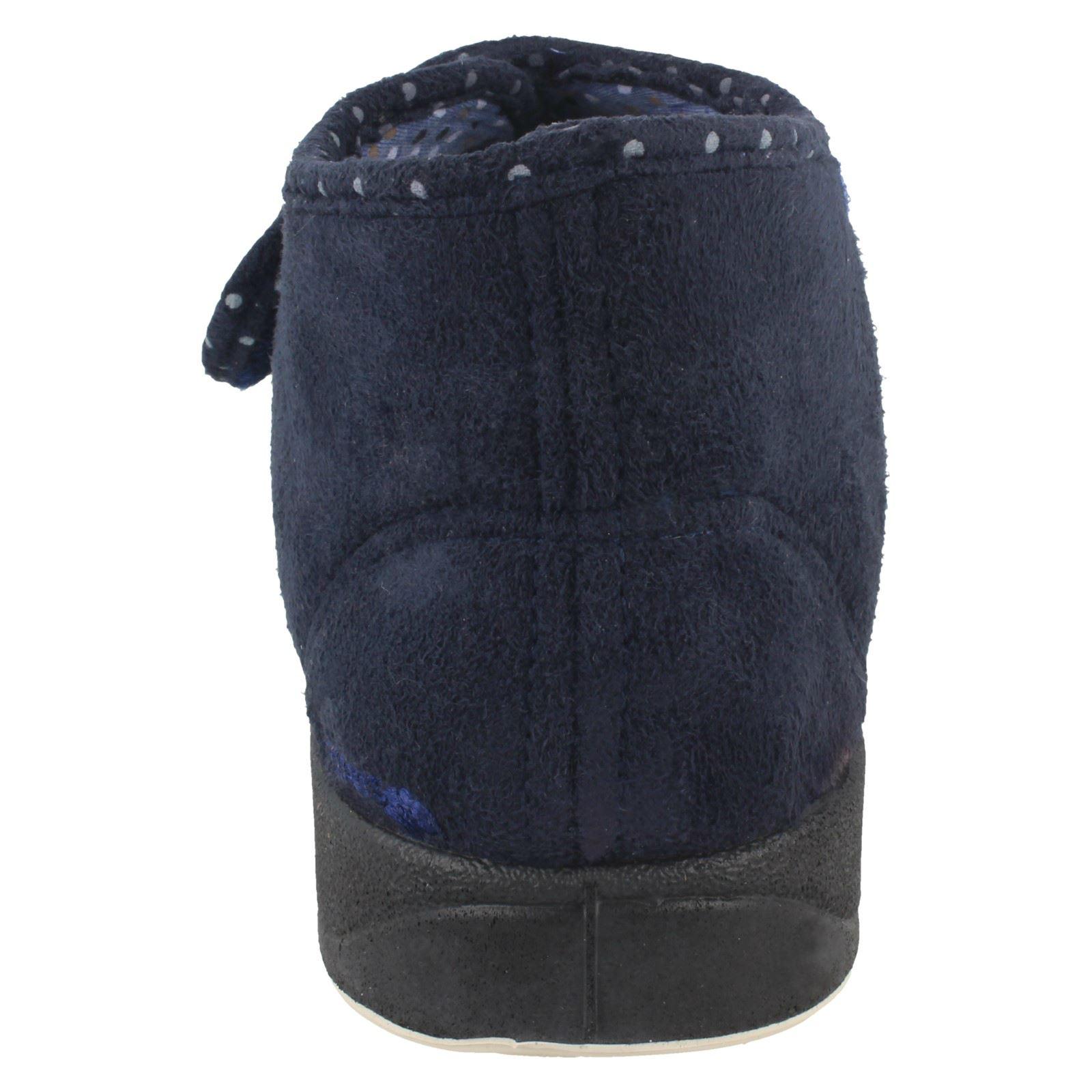 Cherish * Femmes Padders Wide Fitting Boot Style Pantoufles