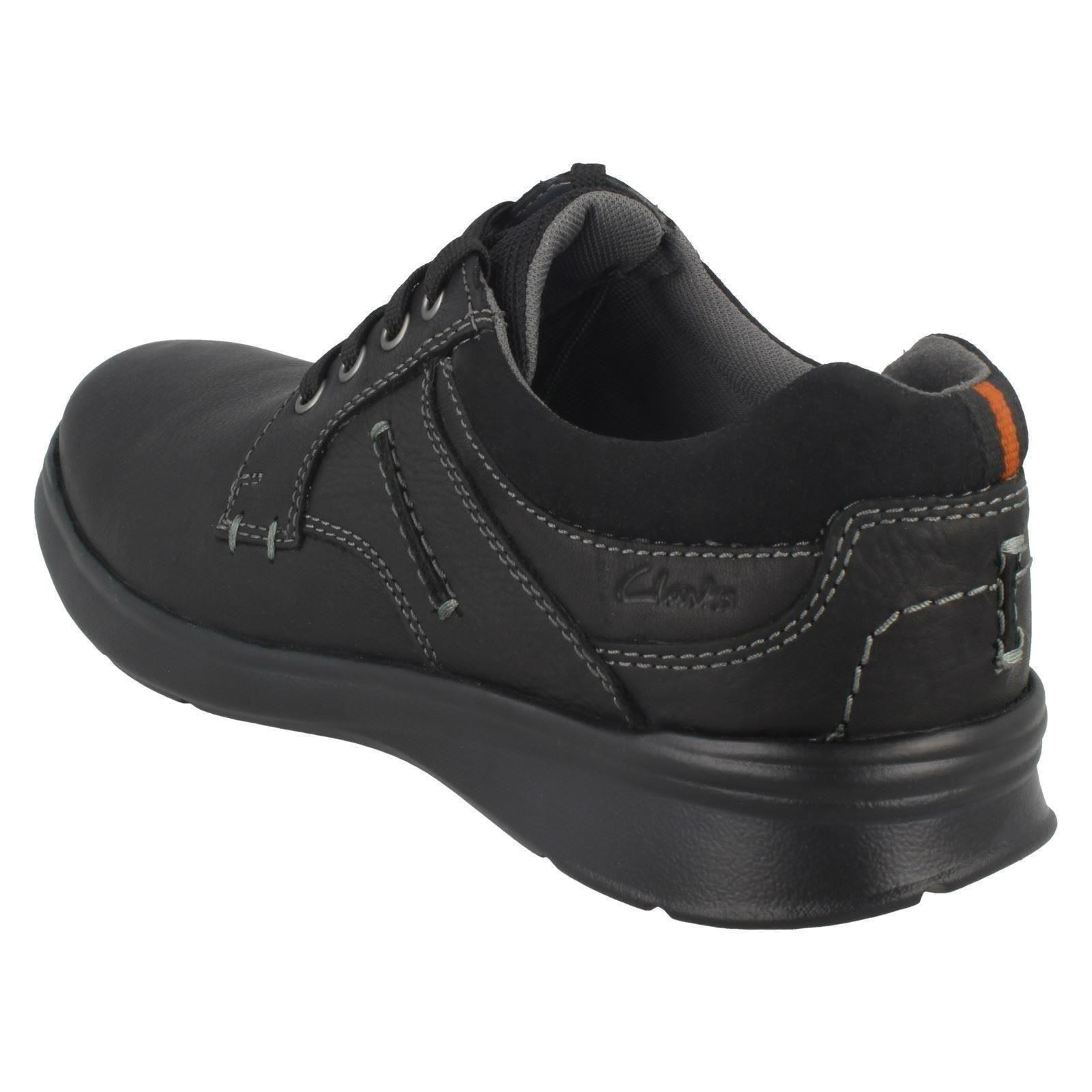 Mens Clarks Casual Rounded Toe Lace Up Leather//Textile Shoes Cotrell Plain
