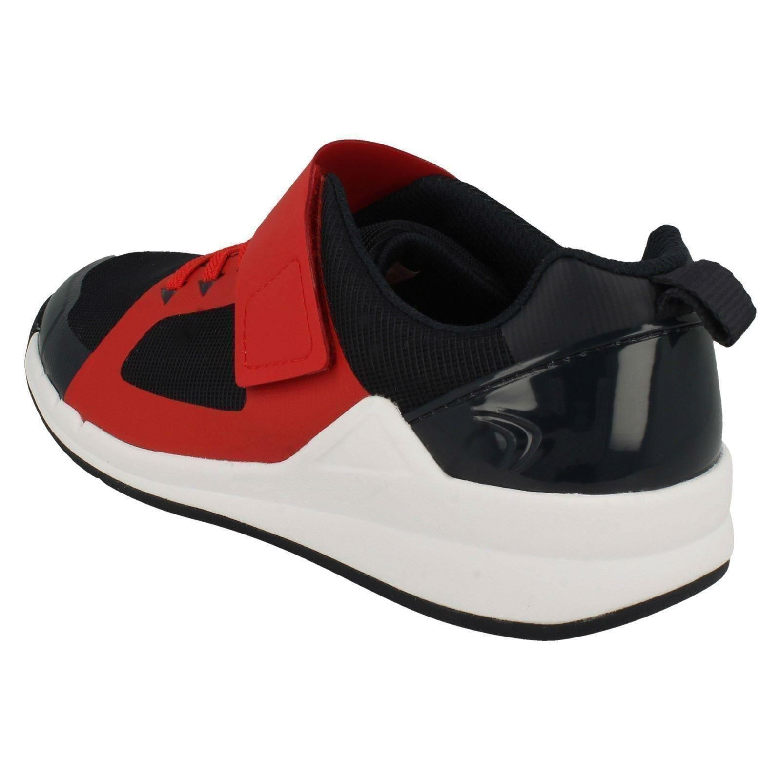 Boys Clarks Elasticated Lace Detailed Trainers Orbit Race