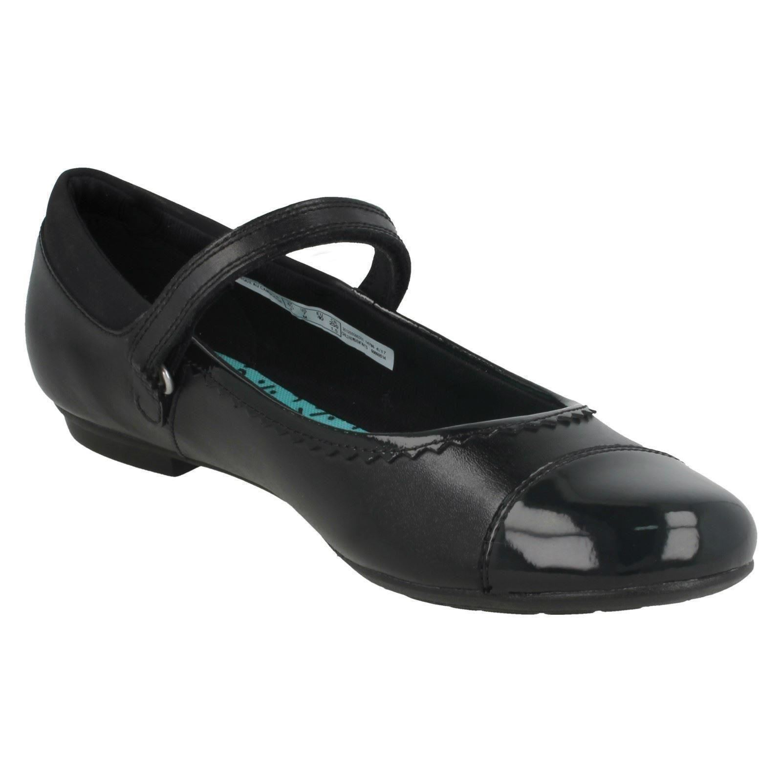 Bootleg By Clarks Girls Patent Toe Cap School Shoes Tizz Ace