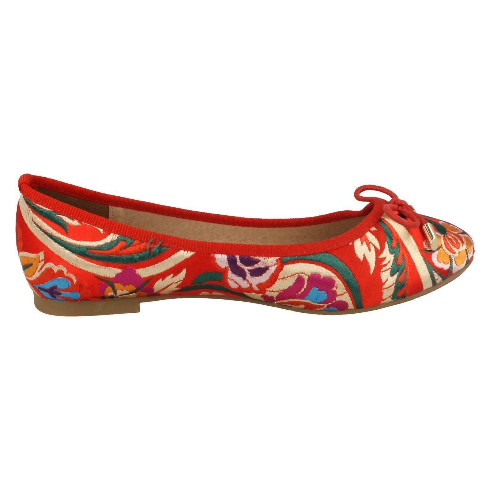 Ladies Spot On Flat Embroidered /'Ballerinas/'