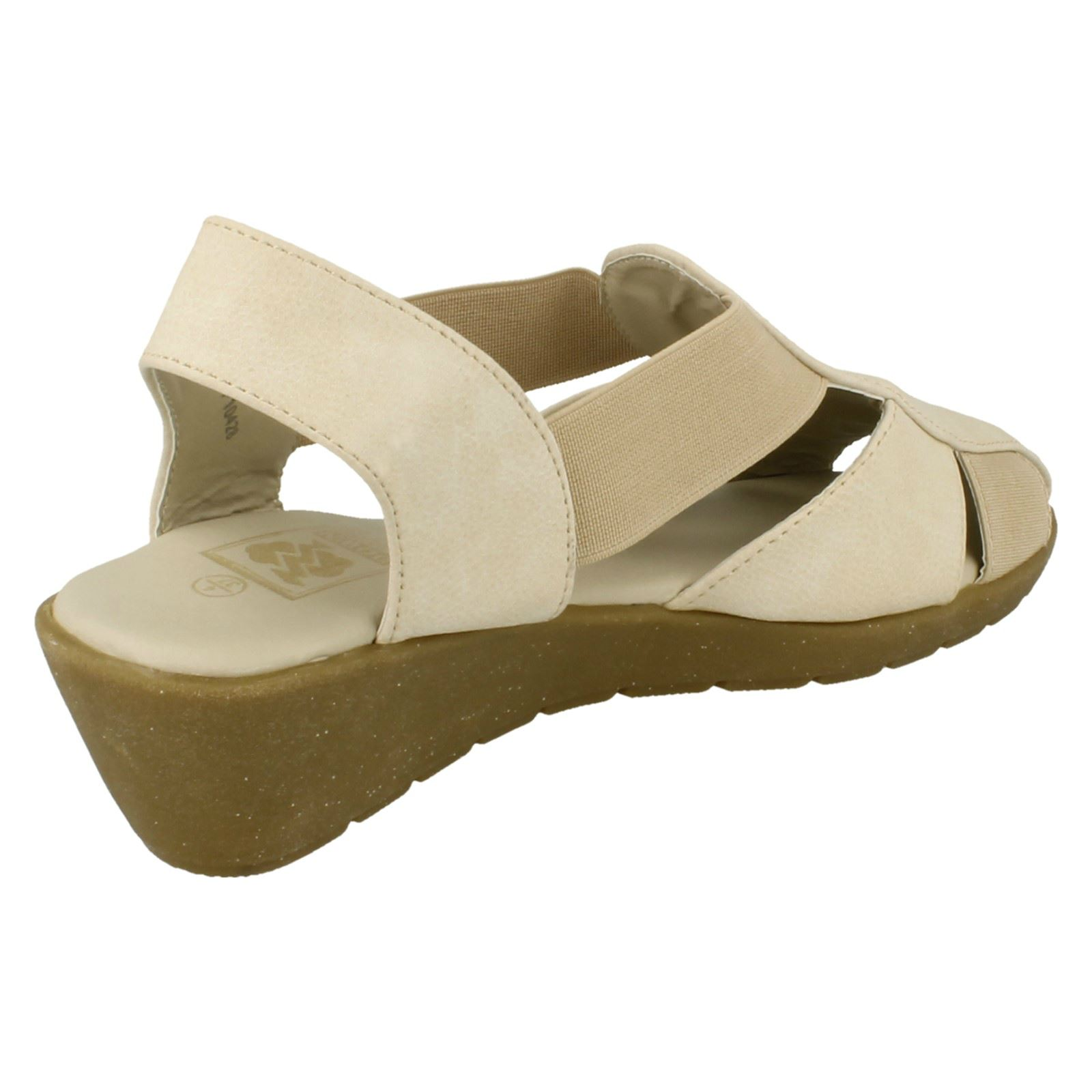 Down To Earth Ladies Casual Sling Back Wedge Sandal