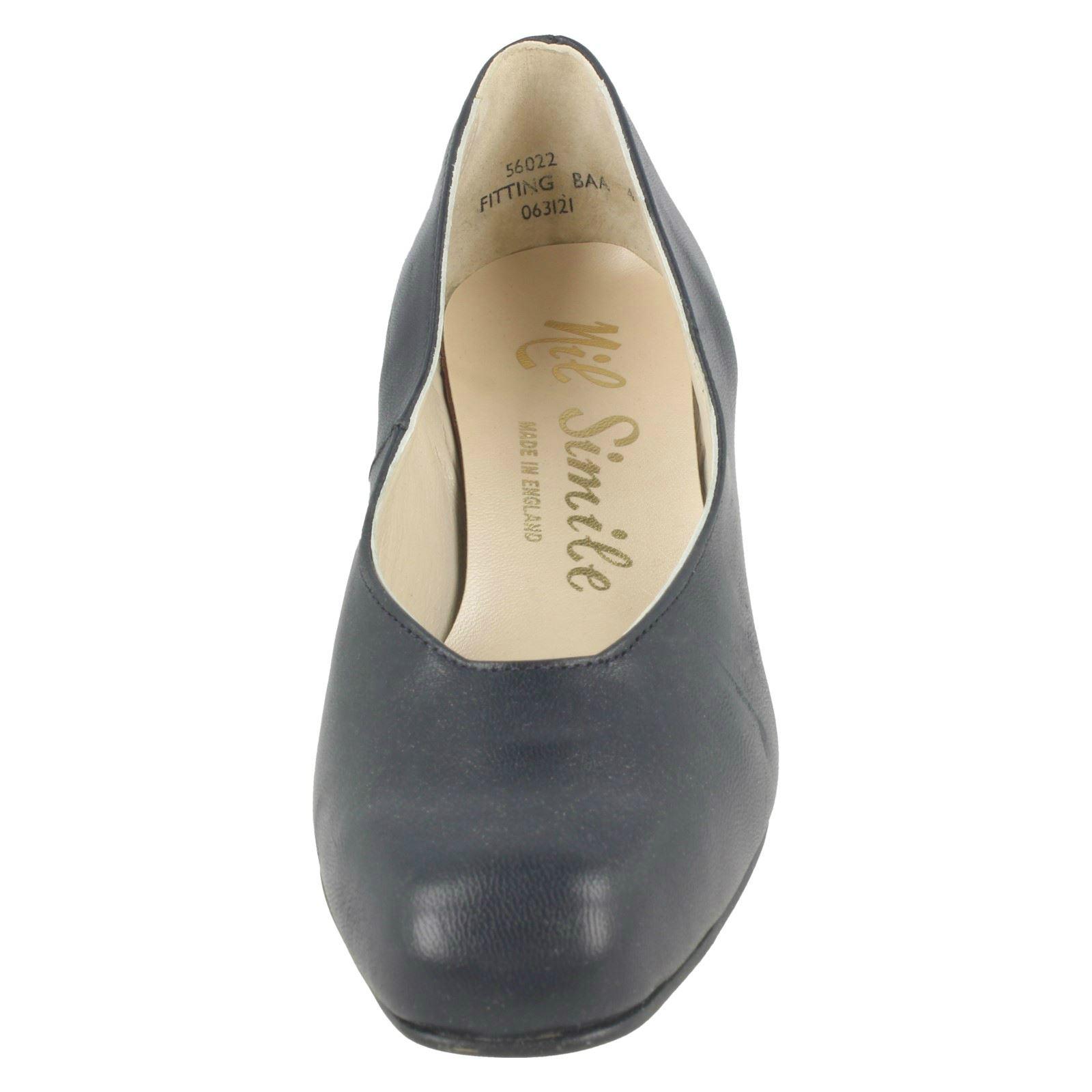 Ladies Nil Simile Smart Square Front Shoes /'Bizet/'