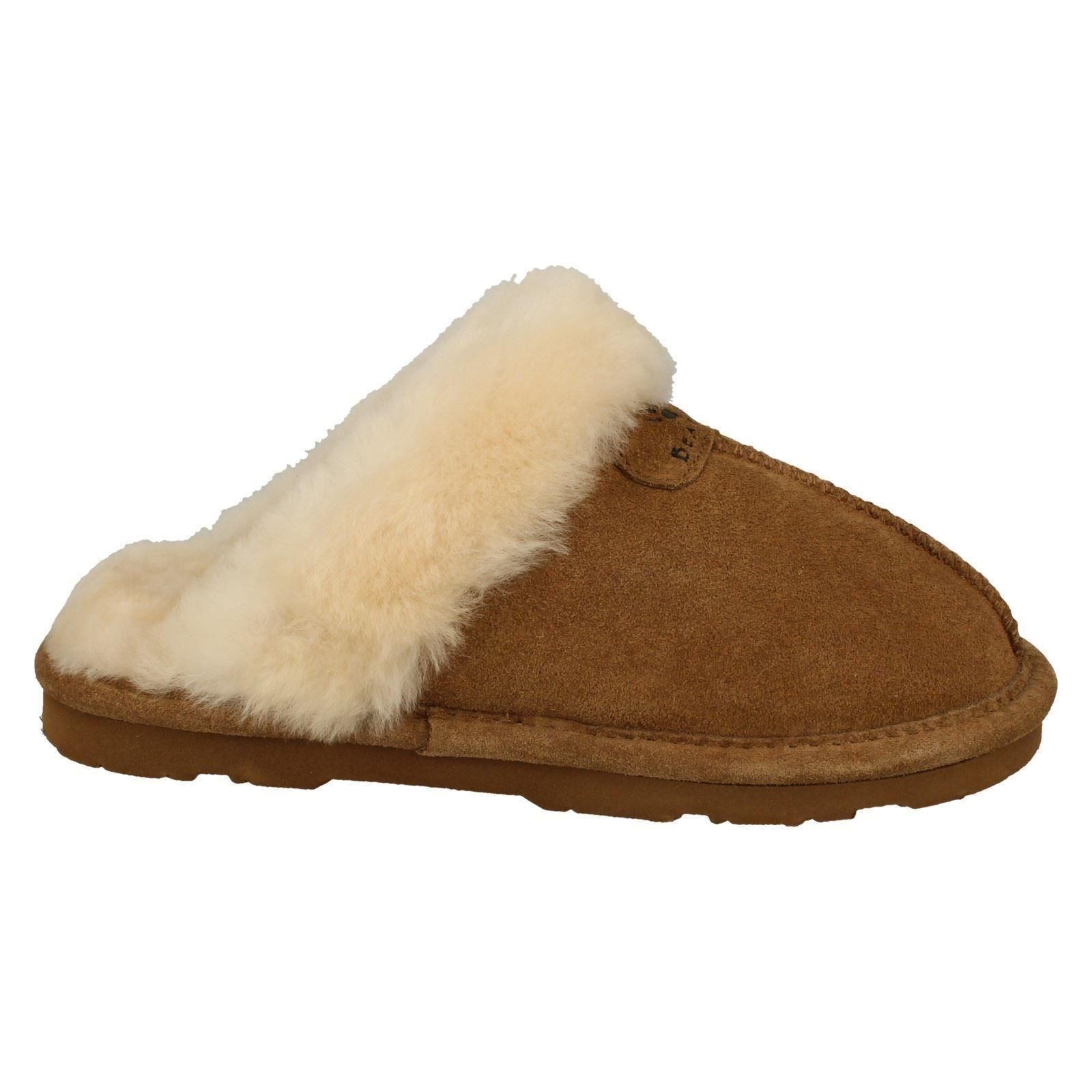 Ladies Bear Paw Leather Lined Mule Slippers Loki II