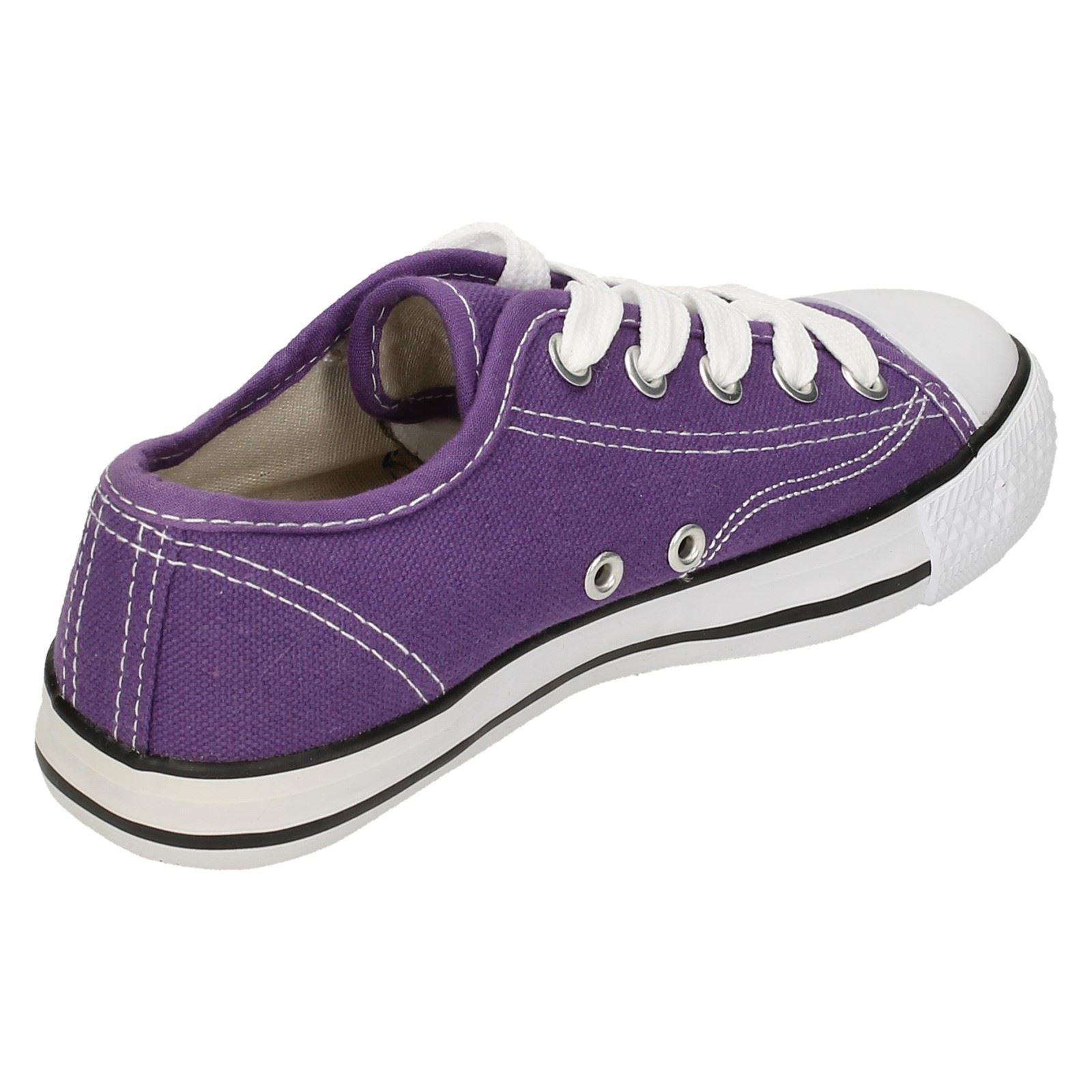 Ladies Spot On Canvas Shoes