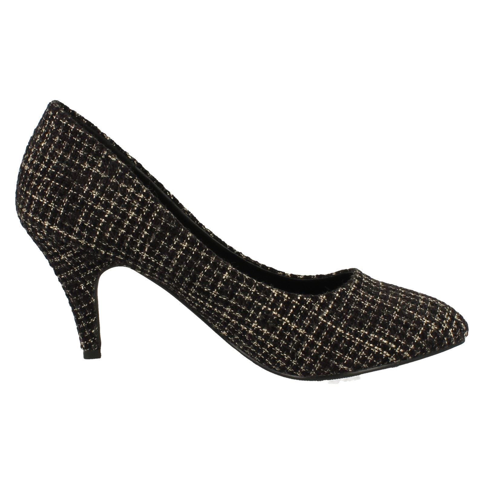 Ladies Anne Michelle Tweed Court Shoe *F9823*