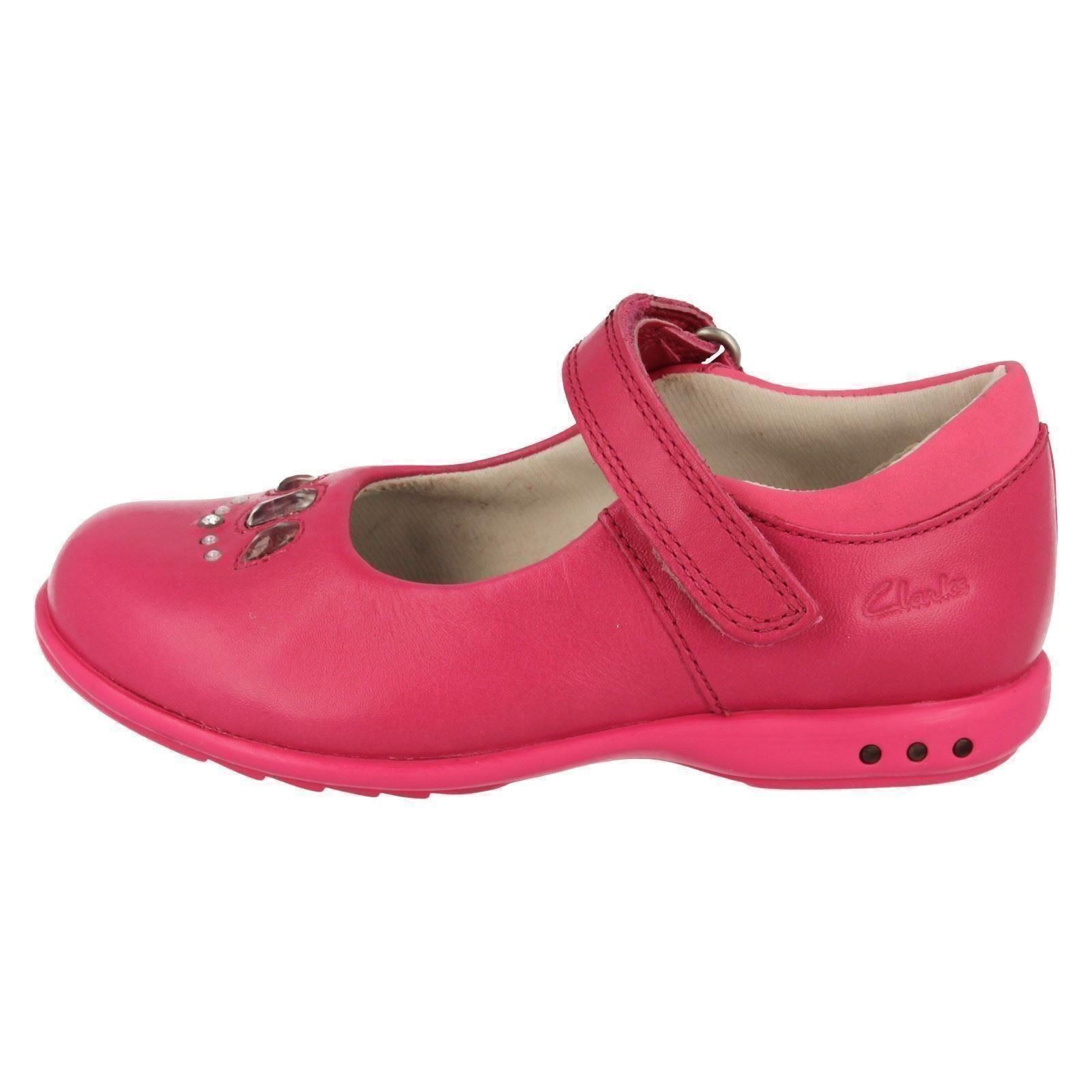 Girls Clarks Casual Shoes with Lights /'Trixi Spice/'