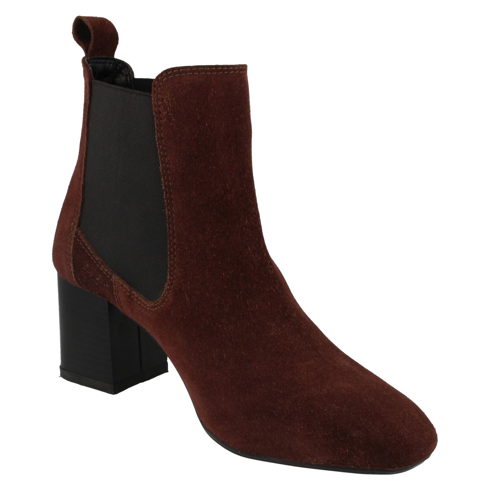 Ladies Leather Collection Mid Heel Twin Gusset Ankle /'Boots/'