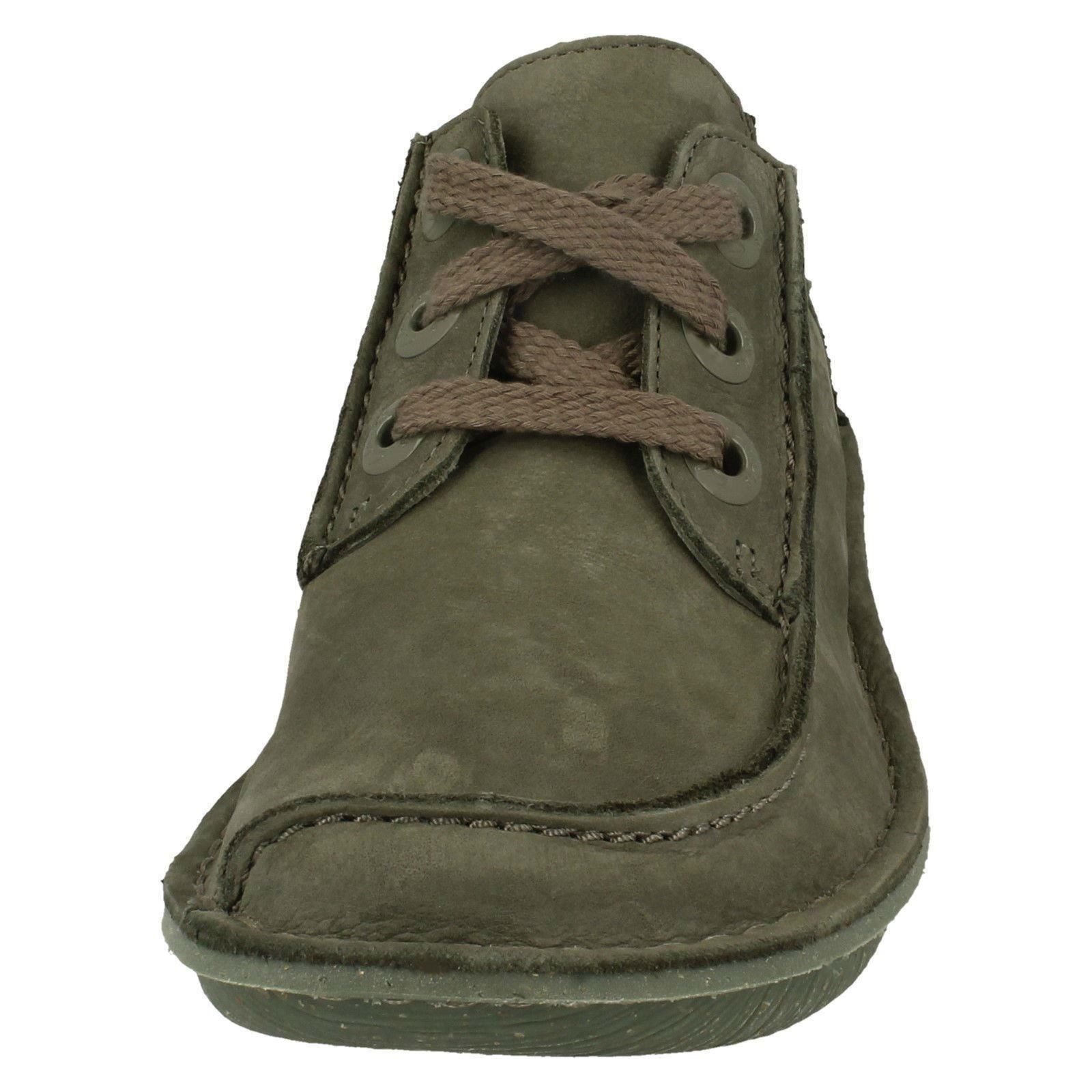 Ladies Clarks Comfortable Lace Up Flats Funny Dream