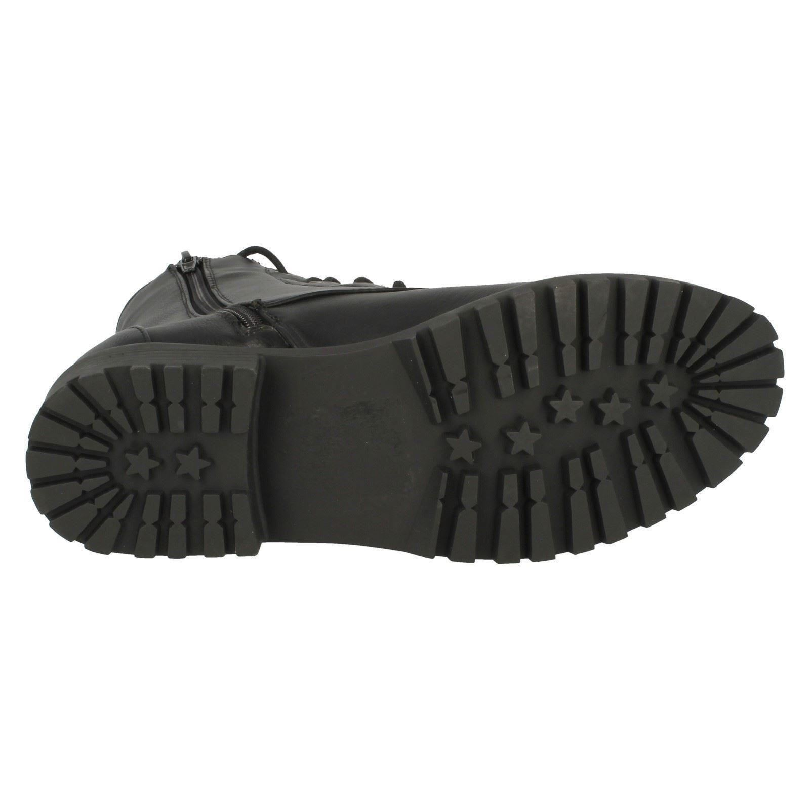 Spot On Ladies Combat Boots