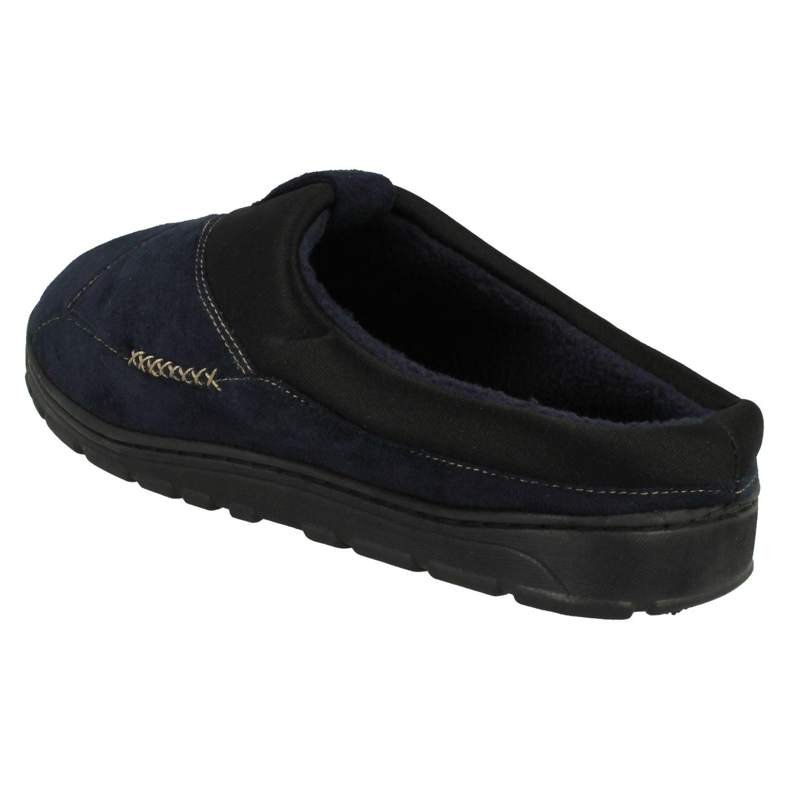 Mens Spot On Casual Slip On Slippers /'Brock/'