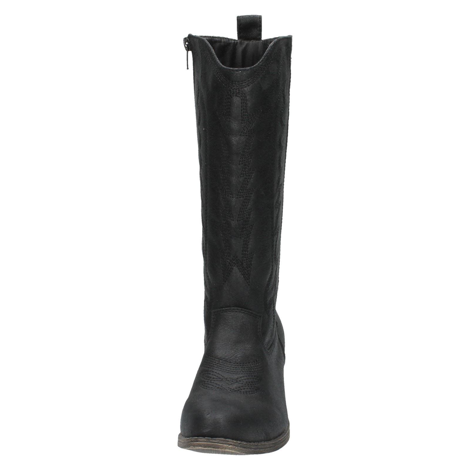 Ladies Spot On Heel Boot