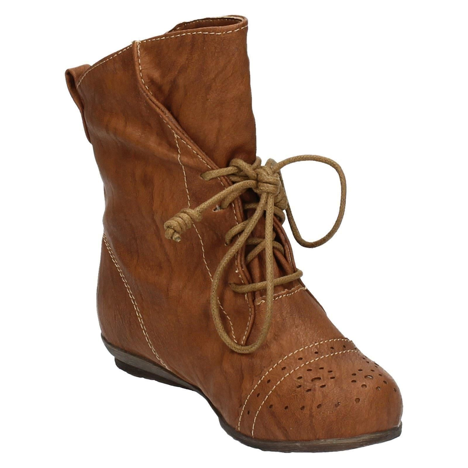Filles Cutie Casual Lace Up Boots