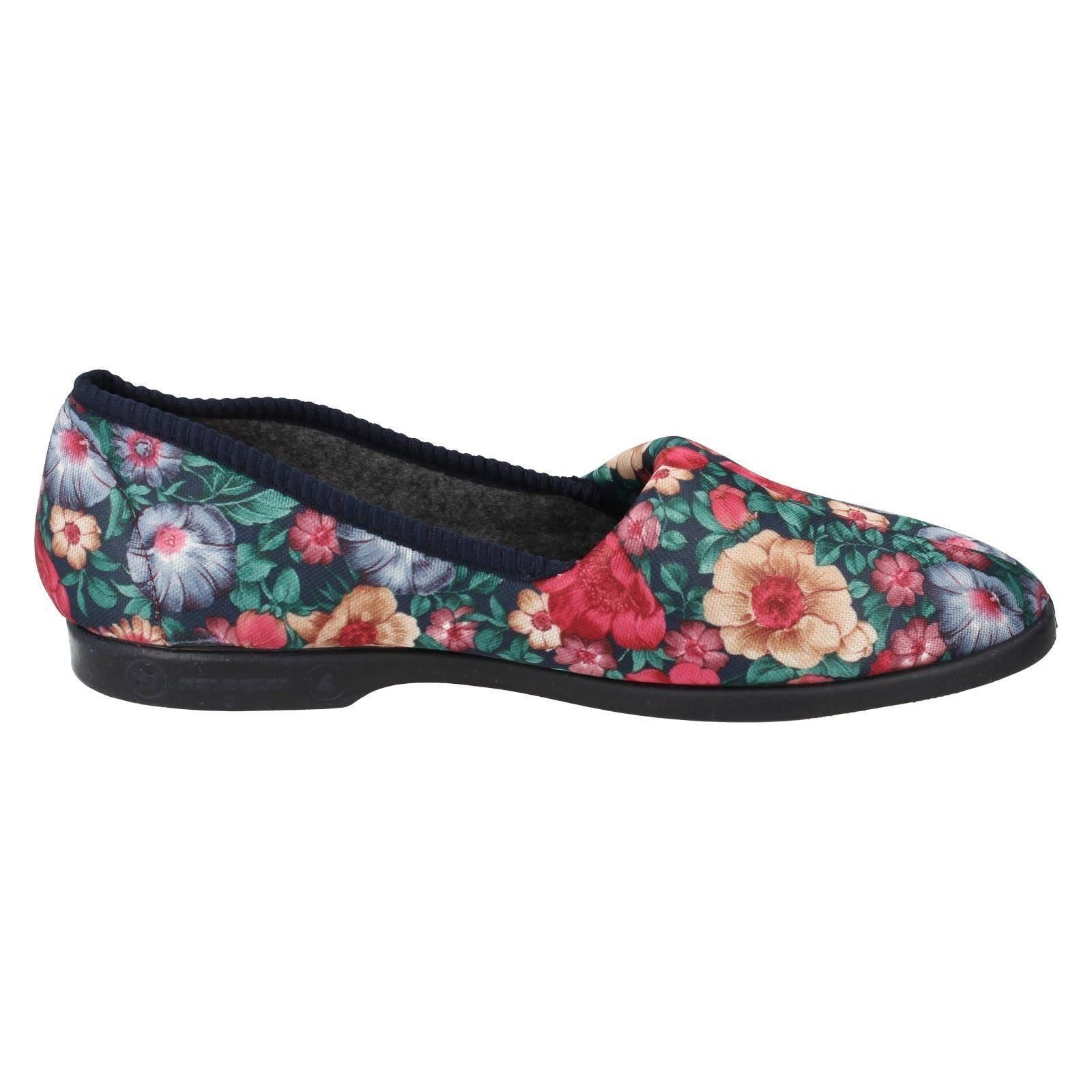 Ladies Lady Love Slip On Slippers /'Garden Print/'