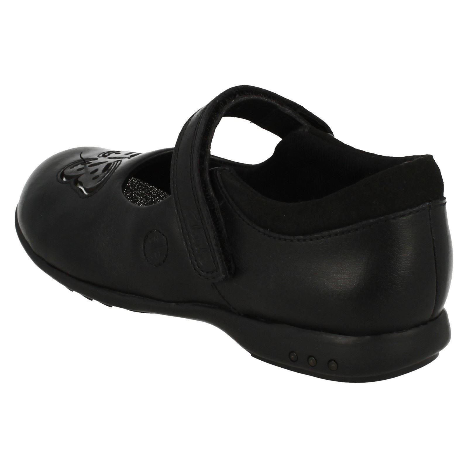 Girls Clarks Light Up School Shoes /'Trixi Rose/'