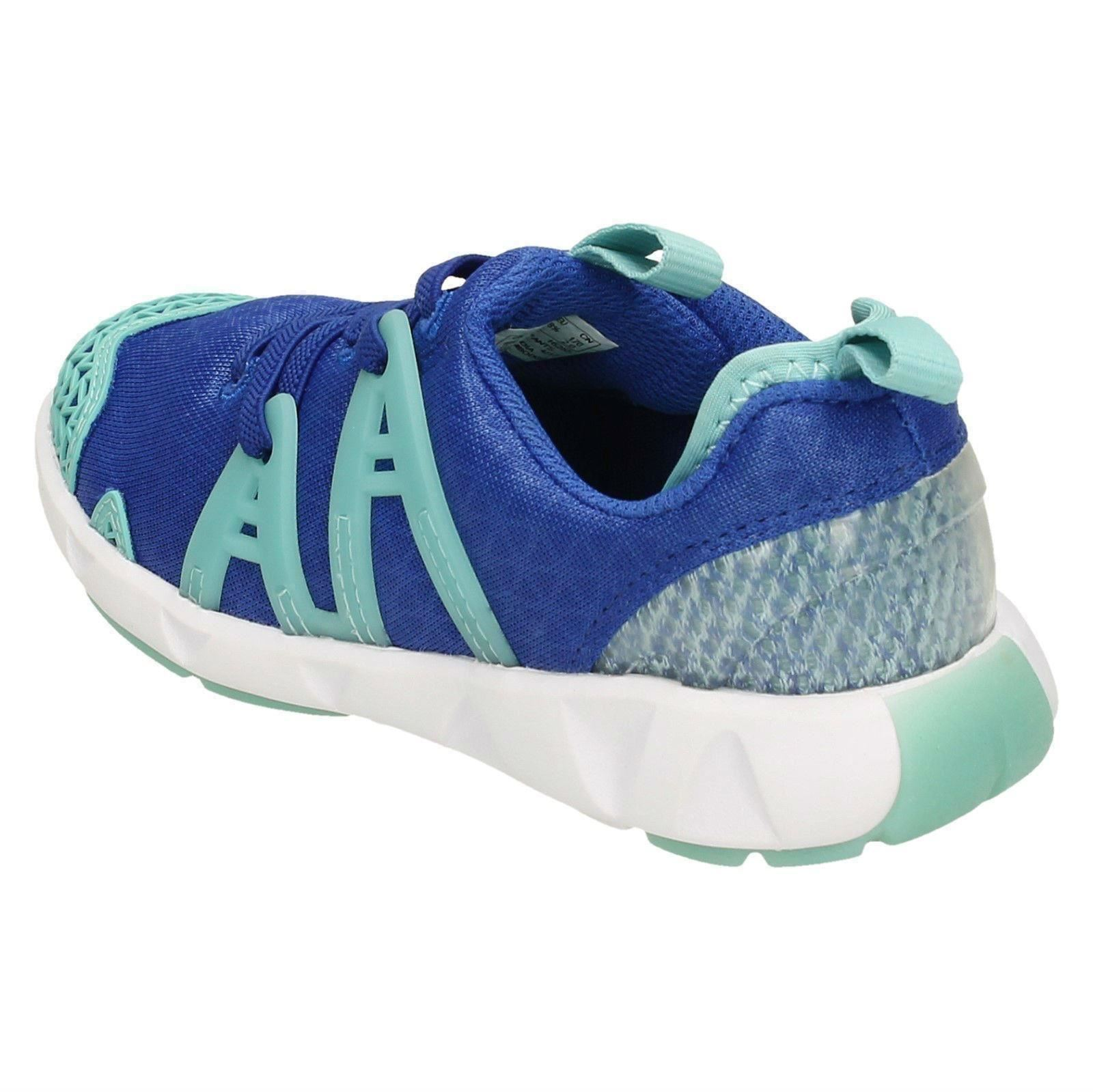 Girls Gloforms By Clarks Faux Lace Trainers /'Luminous Glo/'