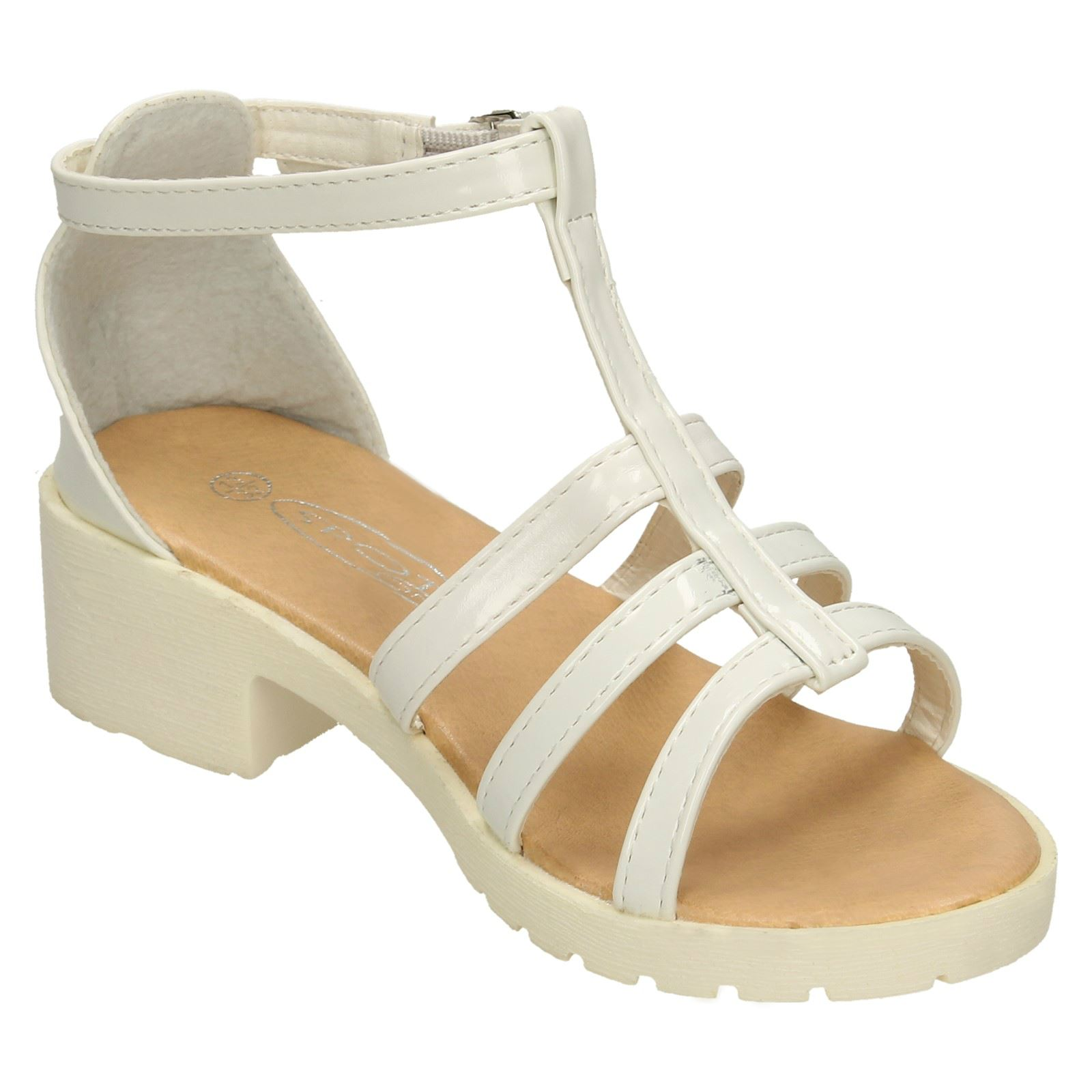 Girls Low Heeled Sandals Spot On