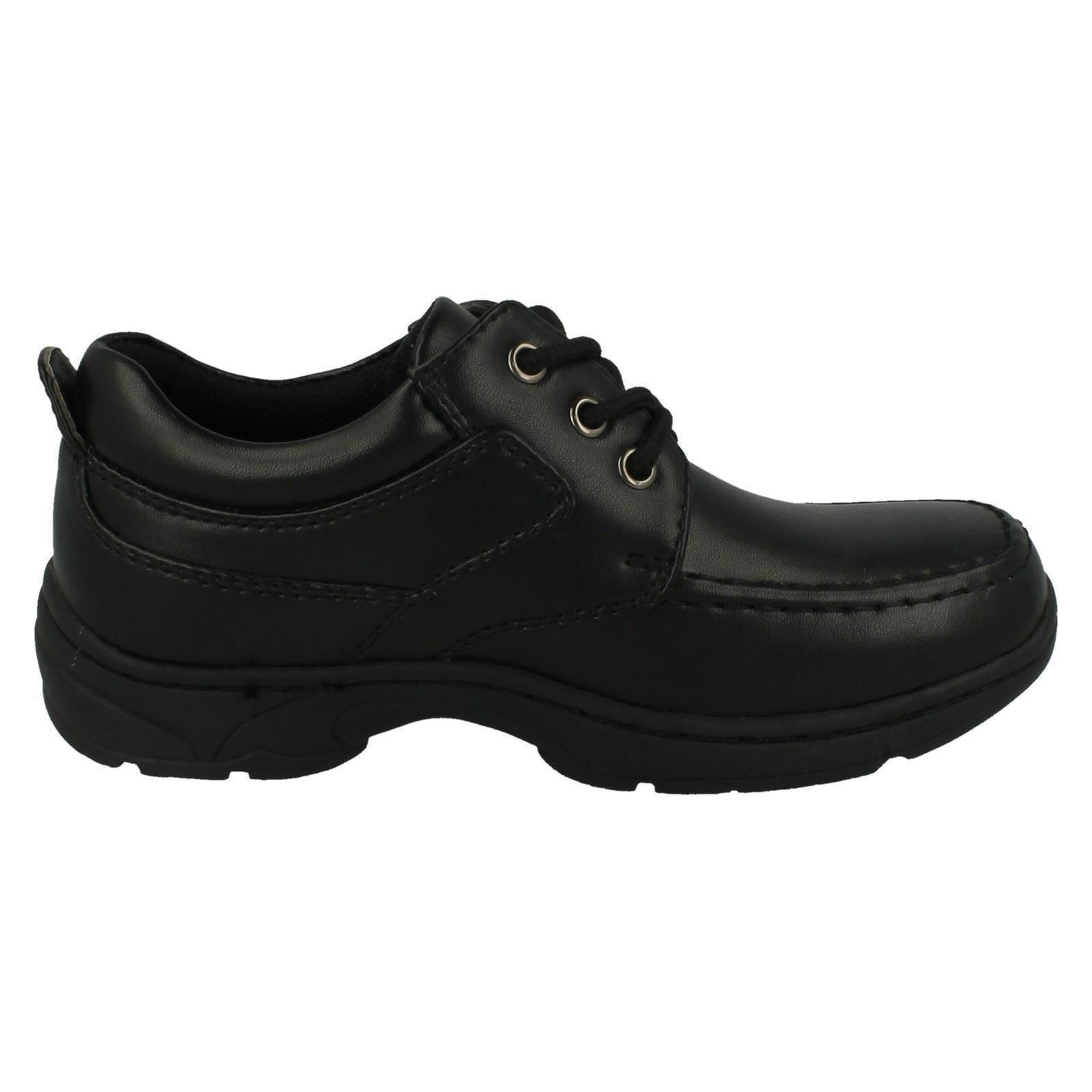 Boys Cool For School Lace Up School Shoes With Block Heel