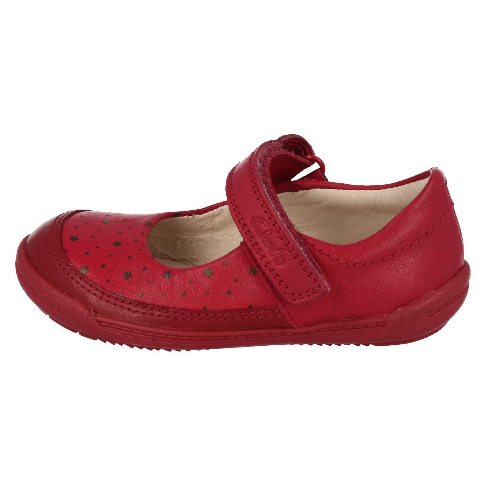 Infant Girls Clarks Riptape Flexible Soft Leather First Walking Shoes Softly Ida
