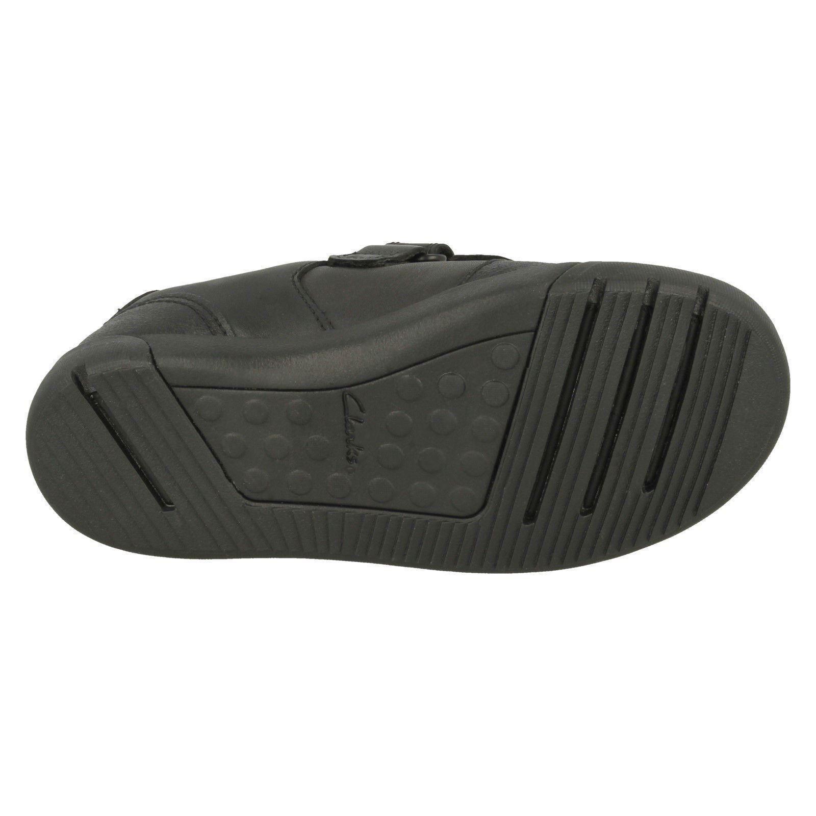 Clarks Boys Hook /& Loop School Shoes /'Mini Racer/'