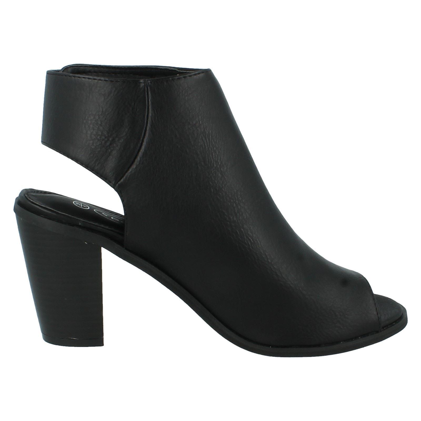 Spot on Bout Ouvert Chaussure Femmes Bottes