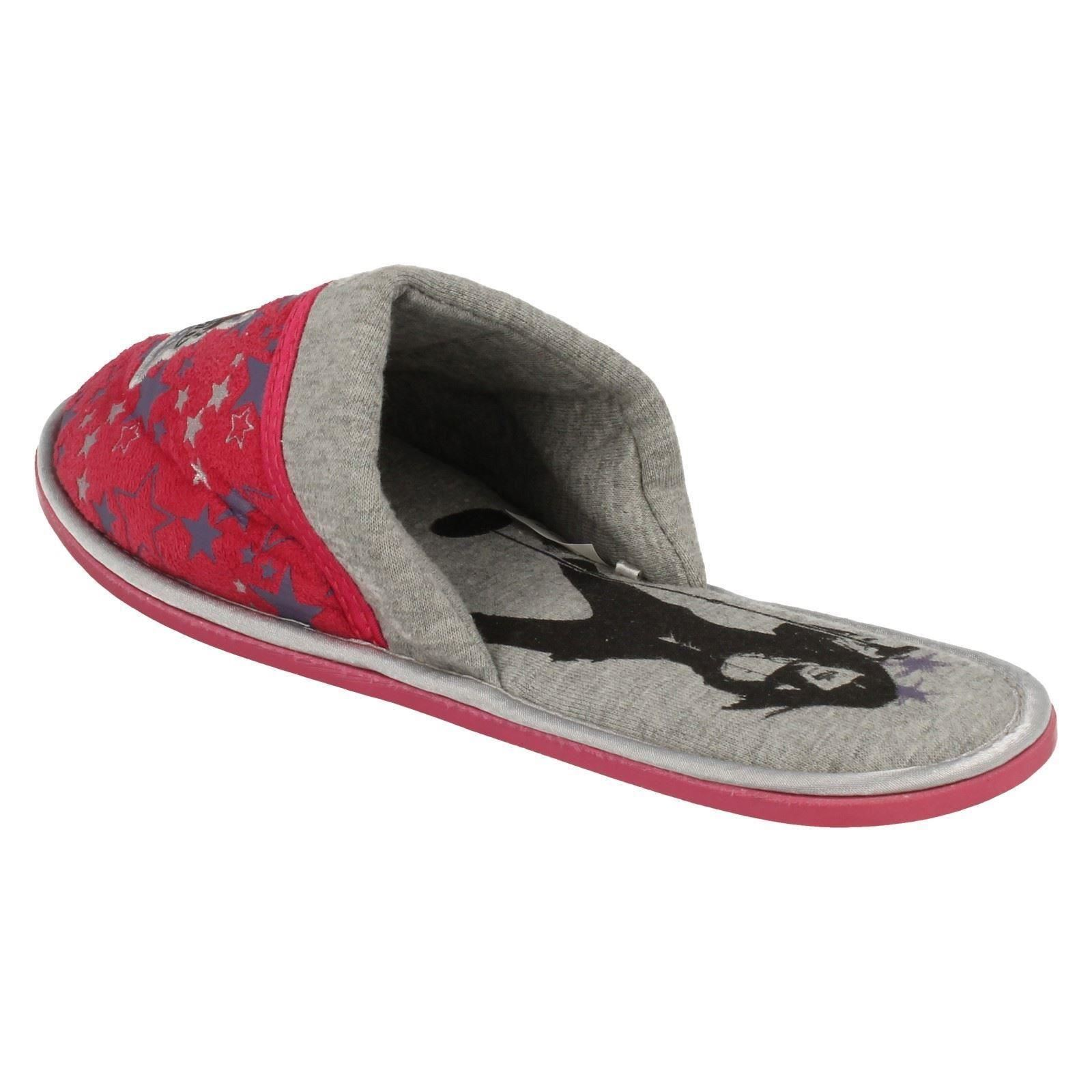 Girls Spot On Mule Slippers Camp Rock Star