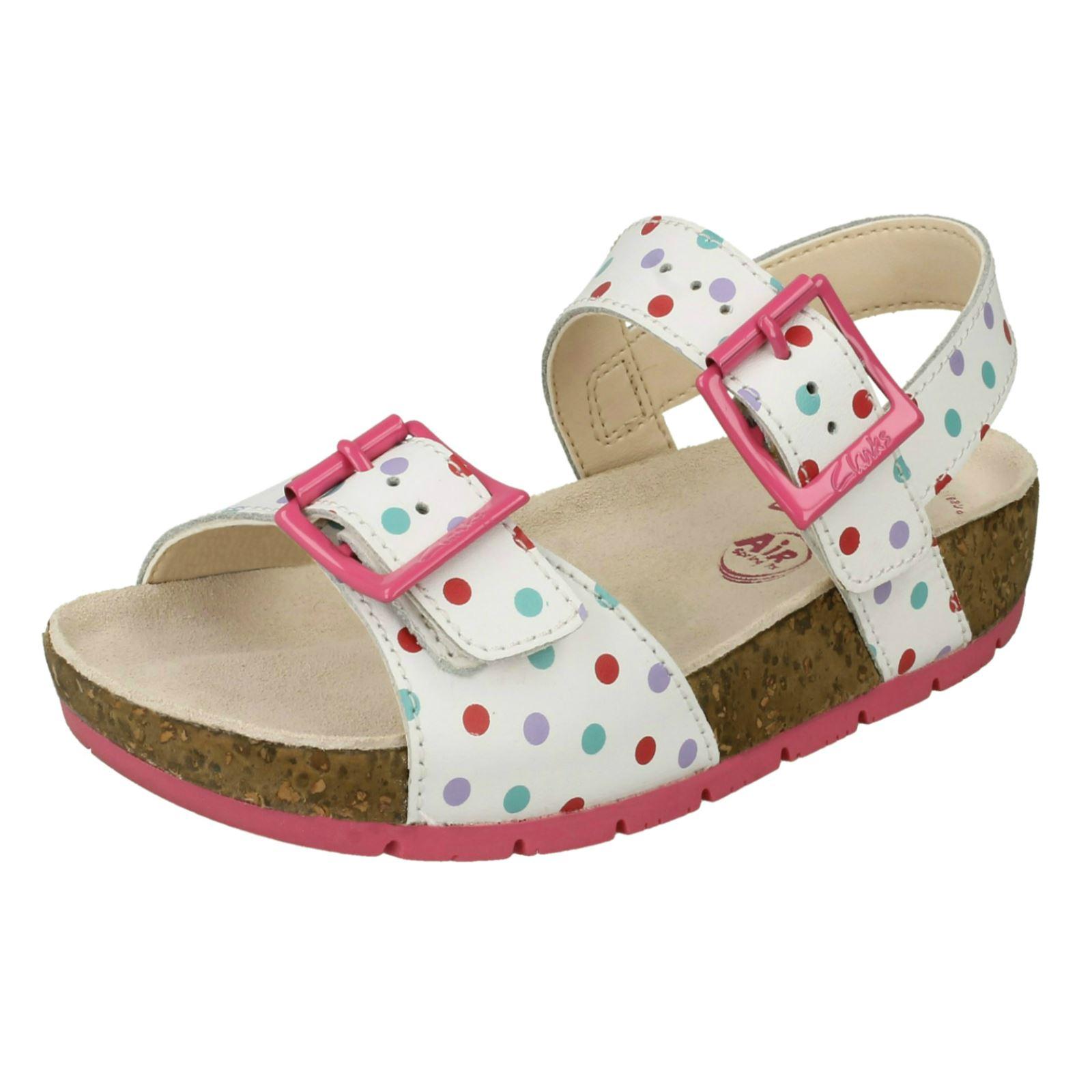 Girls Clarks Water Friendly Air Spring FX Sandals /'Volkin Ice/'