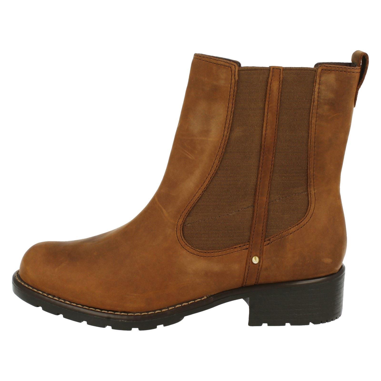 Ladies Clarks Orinoco Club Chelsea Pull On Boots
