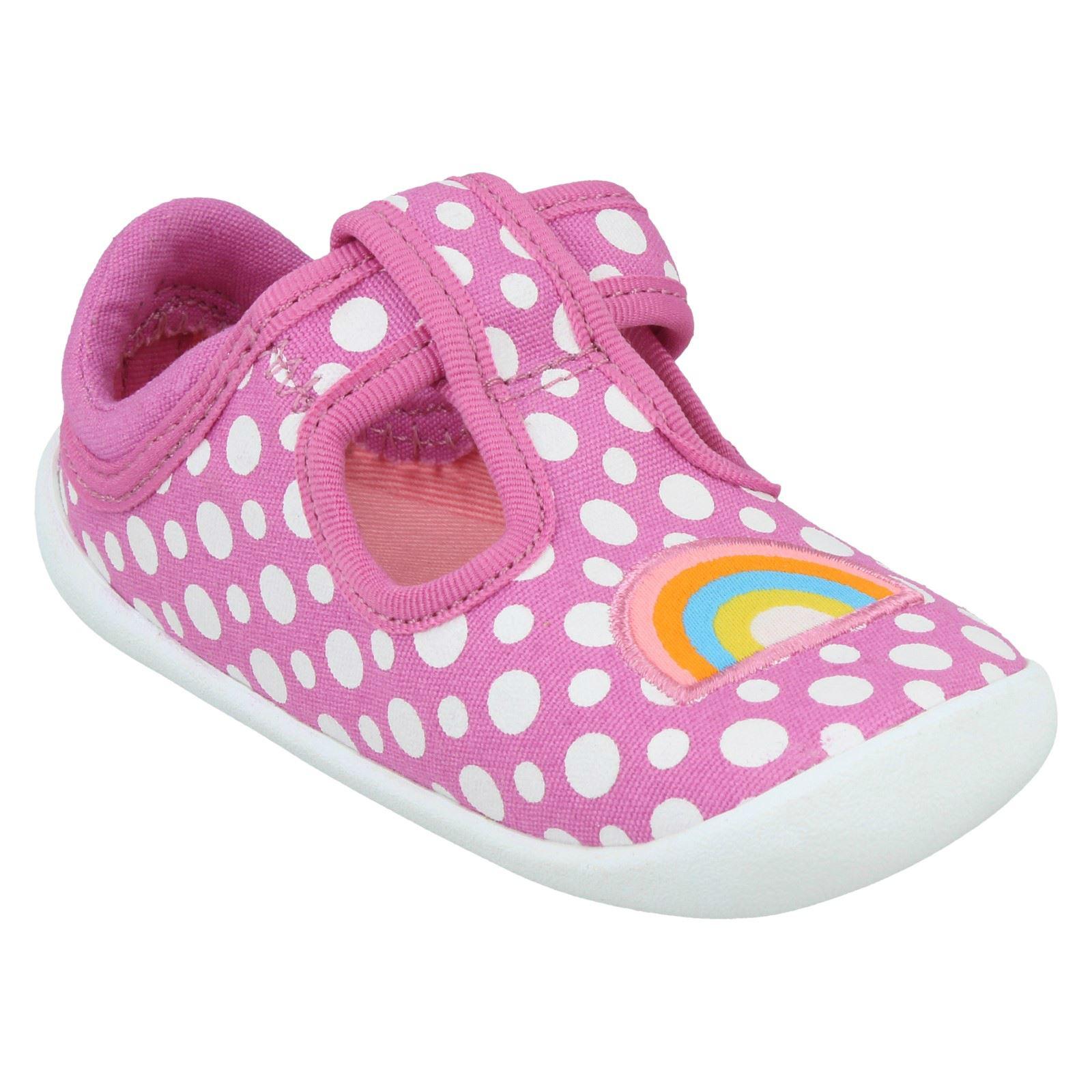 Girls Clarks T Bar Shoe Roamer Sun T