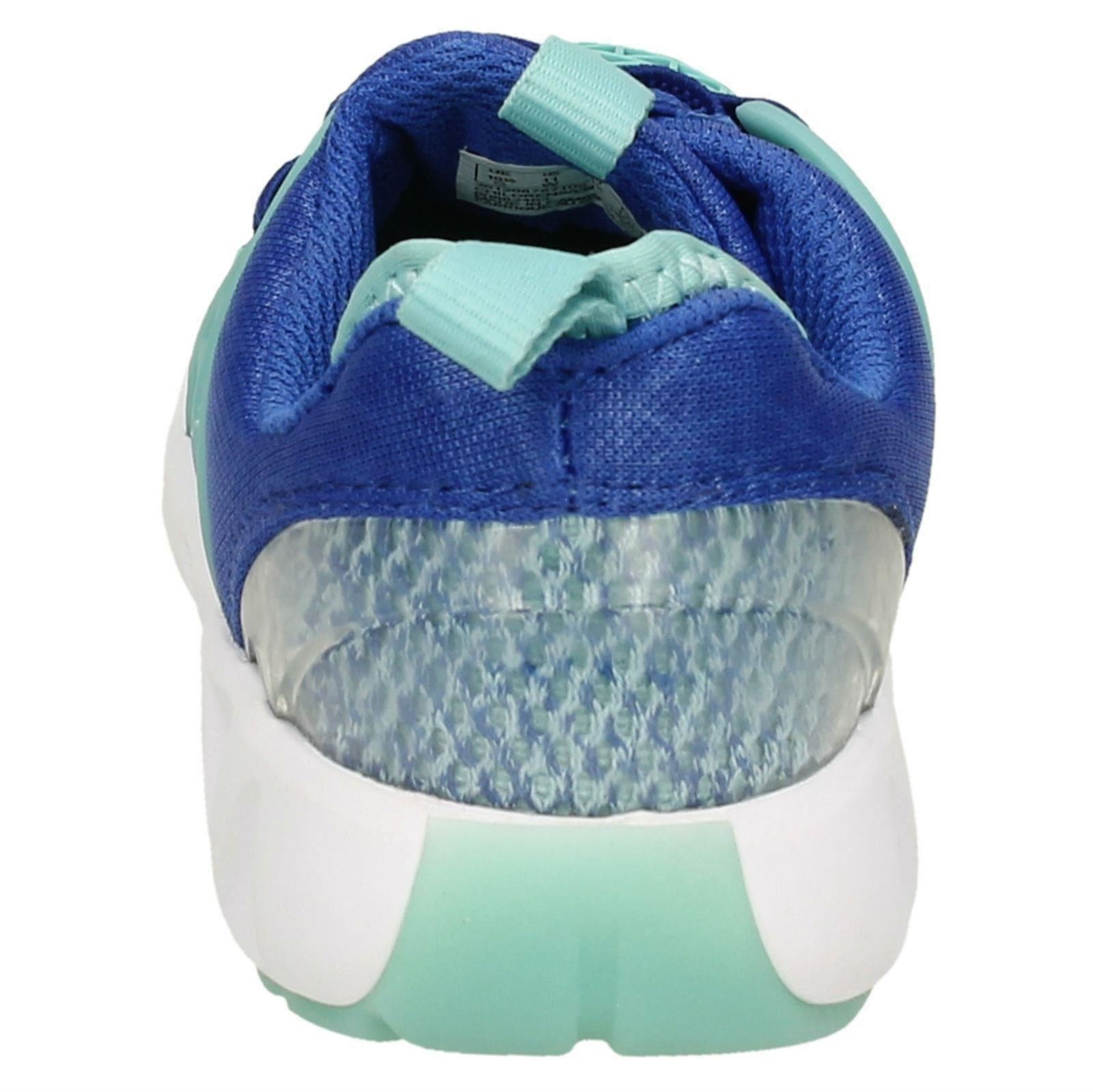 Filles Clarks gloforms Détail Dentelle Slip On Textile Sports Baskets Lumineuses Glo