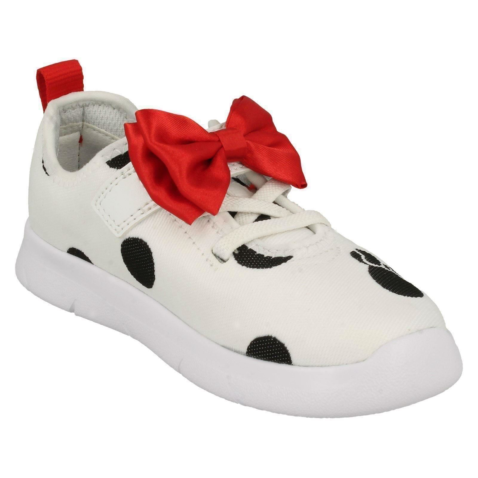 Girls Clarks Disney Stylish Minnie Mouse Bow Detailed Trainers Ath Bow