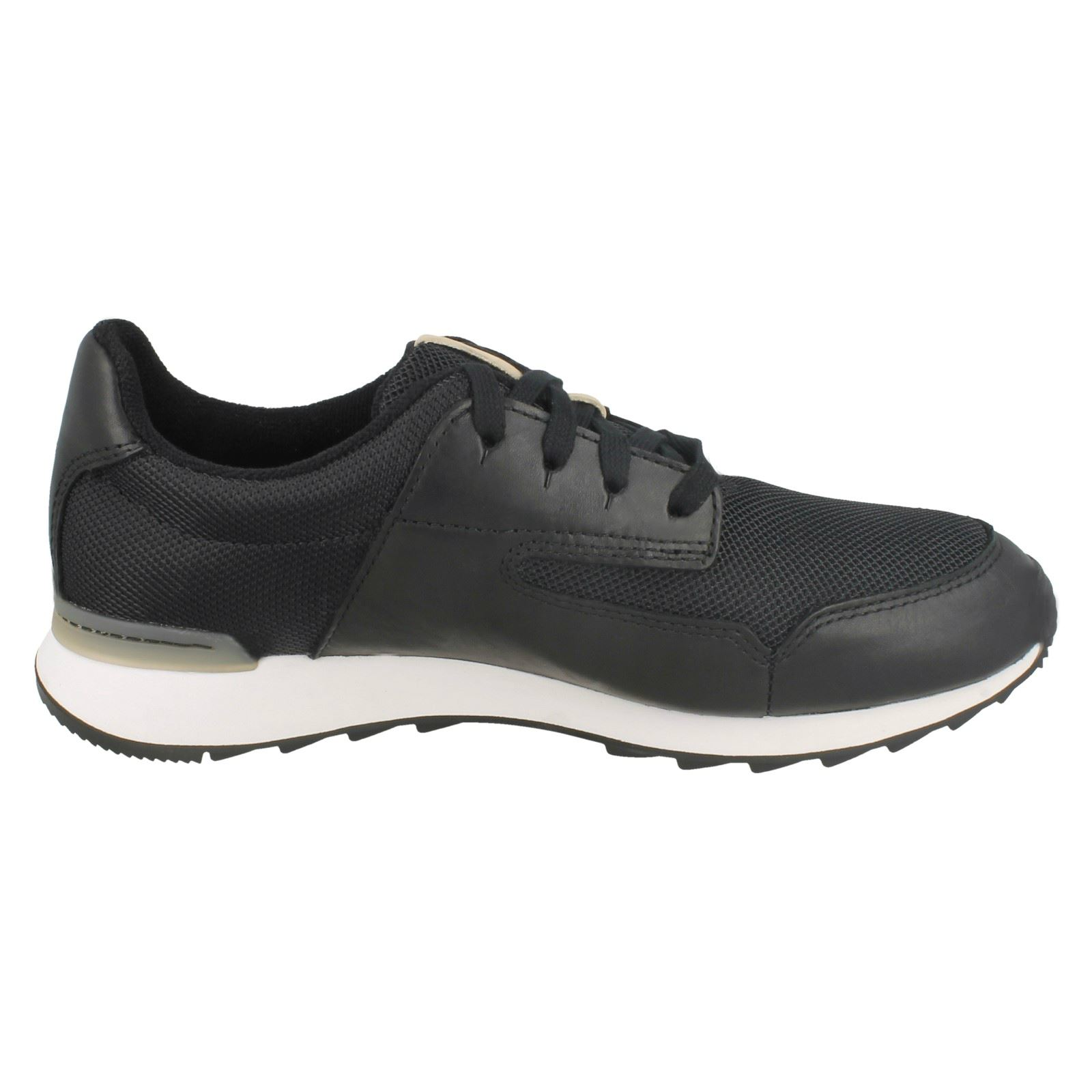 Ladies Clarks Leather Lace Up Trainer Style Shoes *Floura Mix*