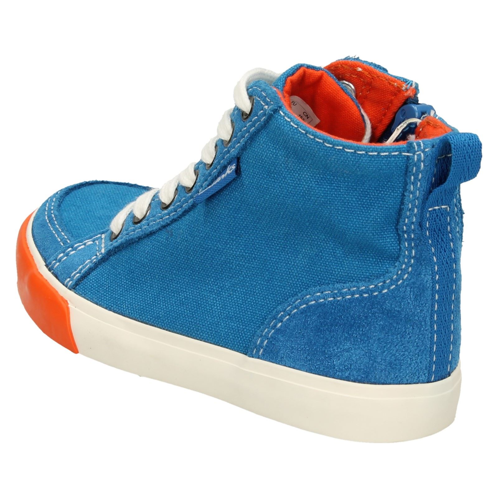 Boys Clarks Casual Ankle Boots /'Club Pop/'