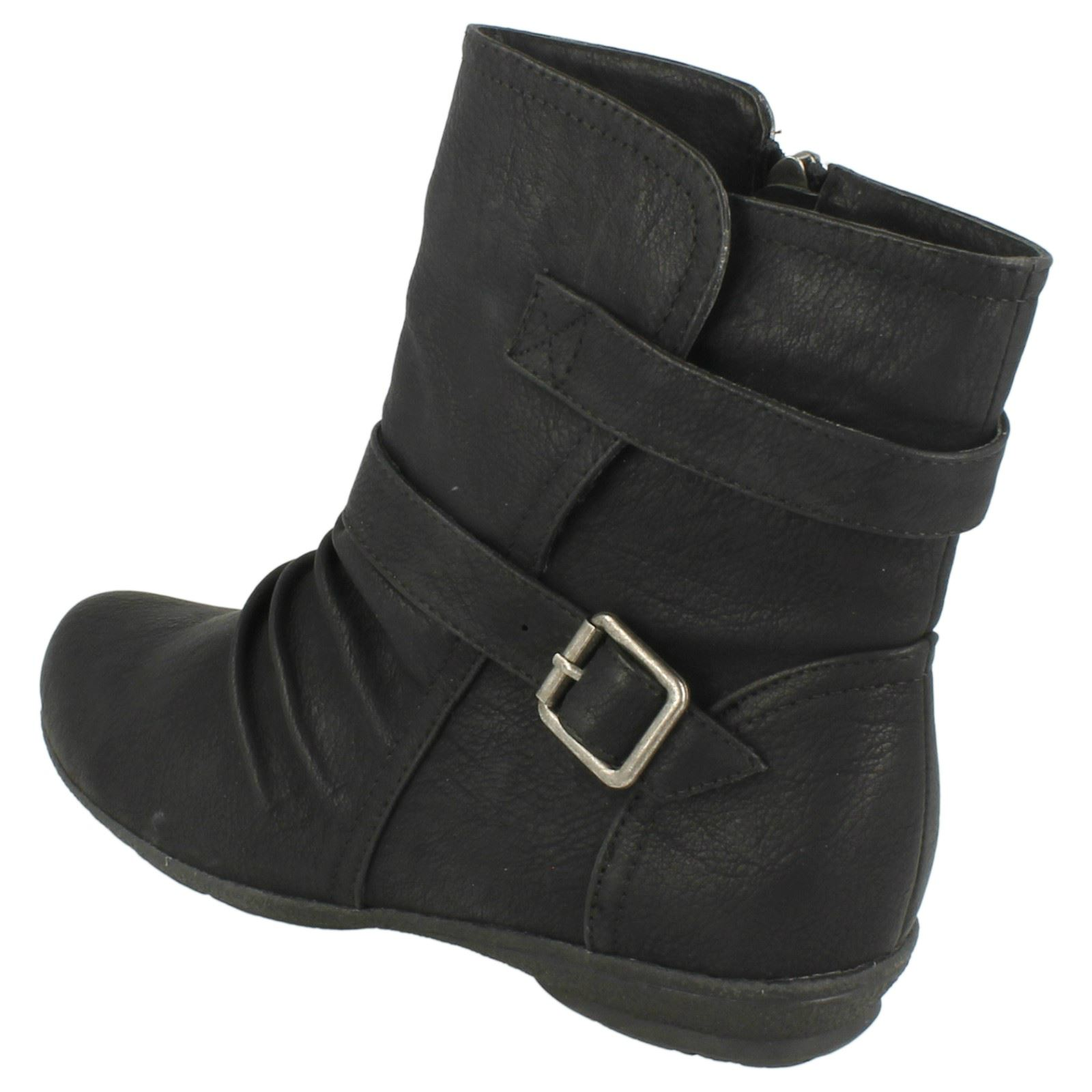 Ladies Spot On Casual Ankle /'Boots/'