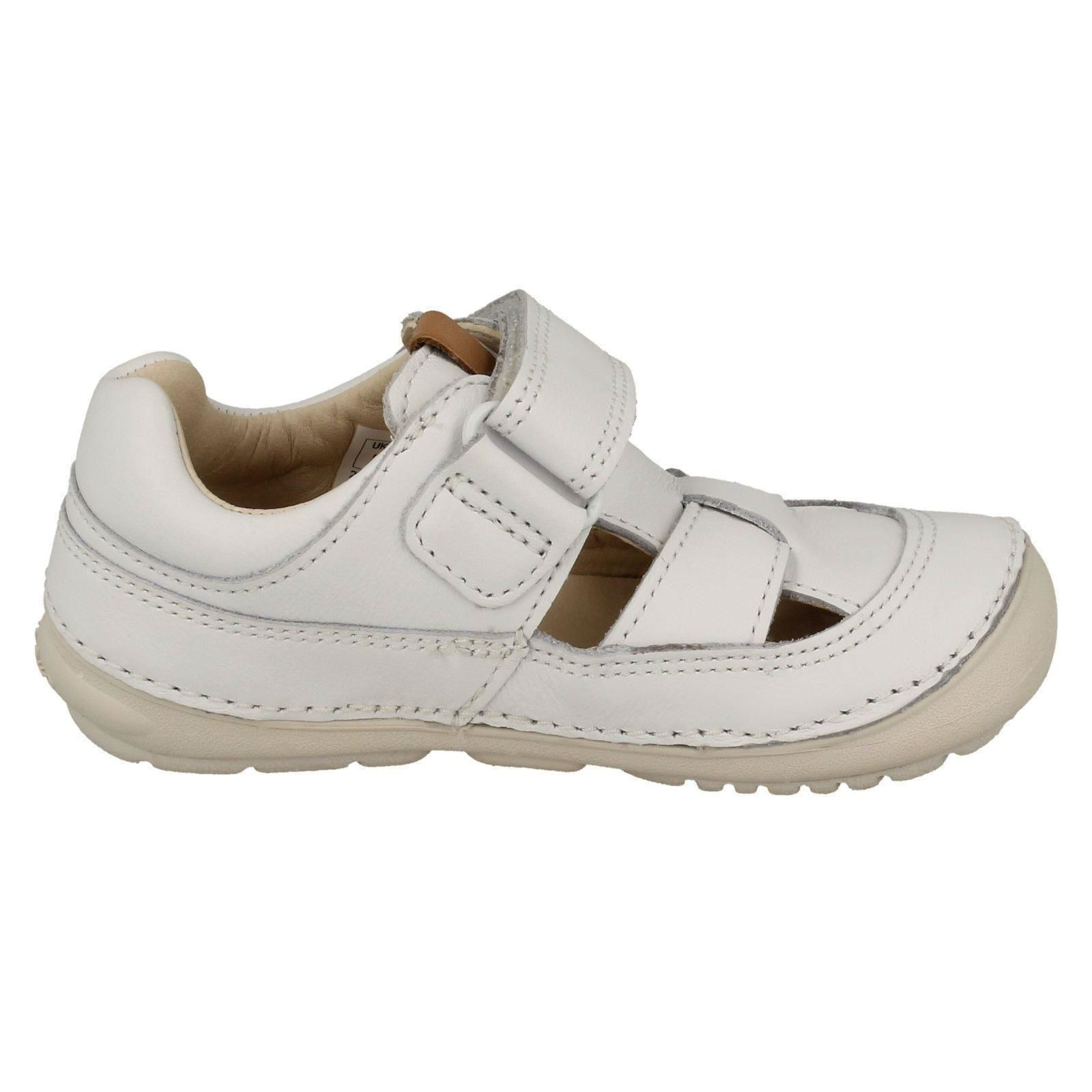 /'Softly Meadow/' Toddler Infant Girls Clarks Casual Leather Sandals Shoes