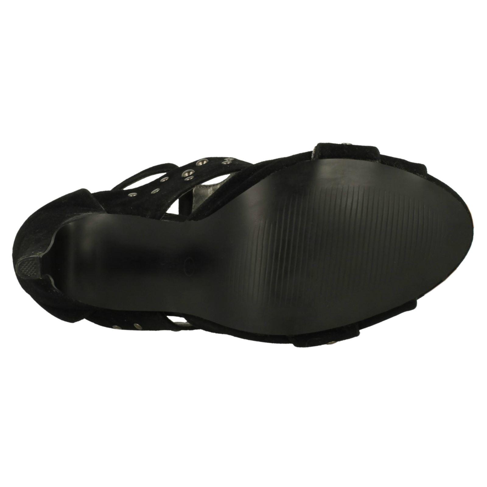 Ladies Spot On Studded High Heel /'Sandals/'