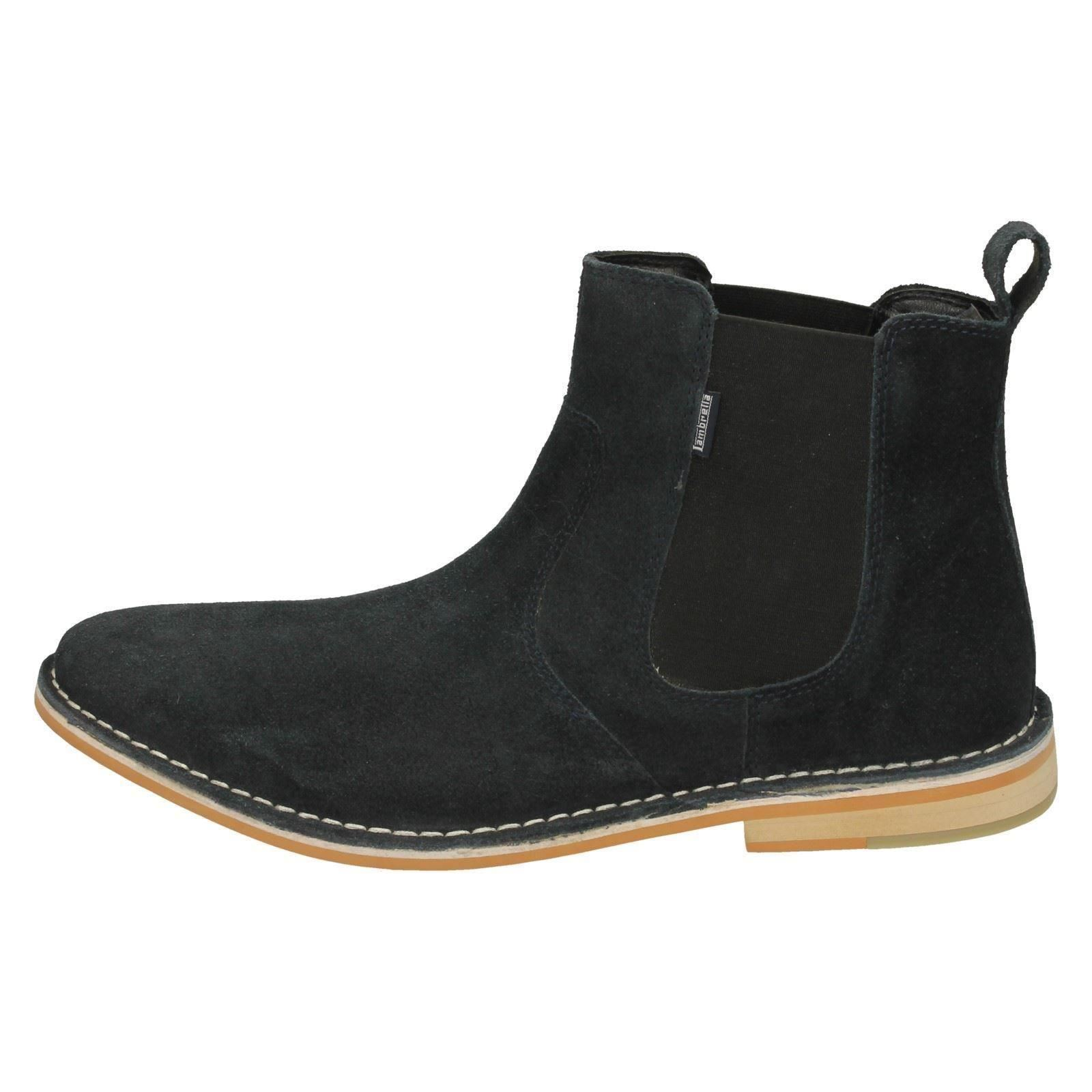 Mens Lambretta Suede Leather Pull On Chelsea Style Ankle Boots Regent