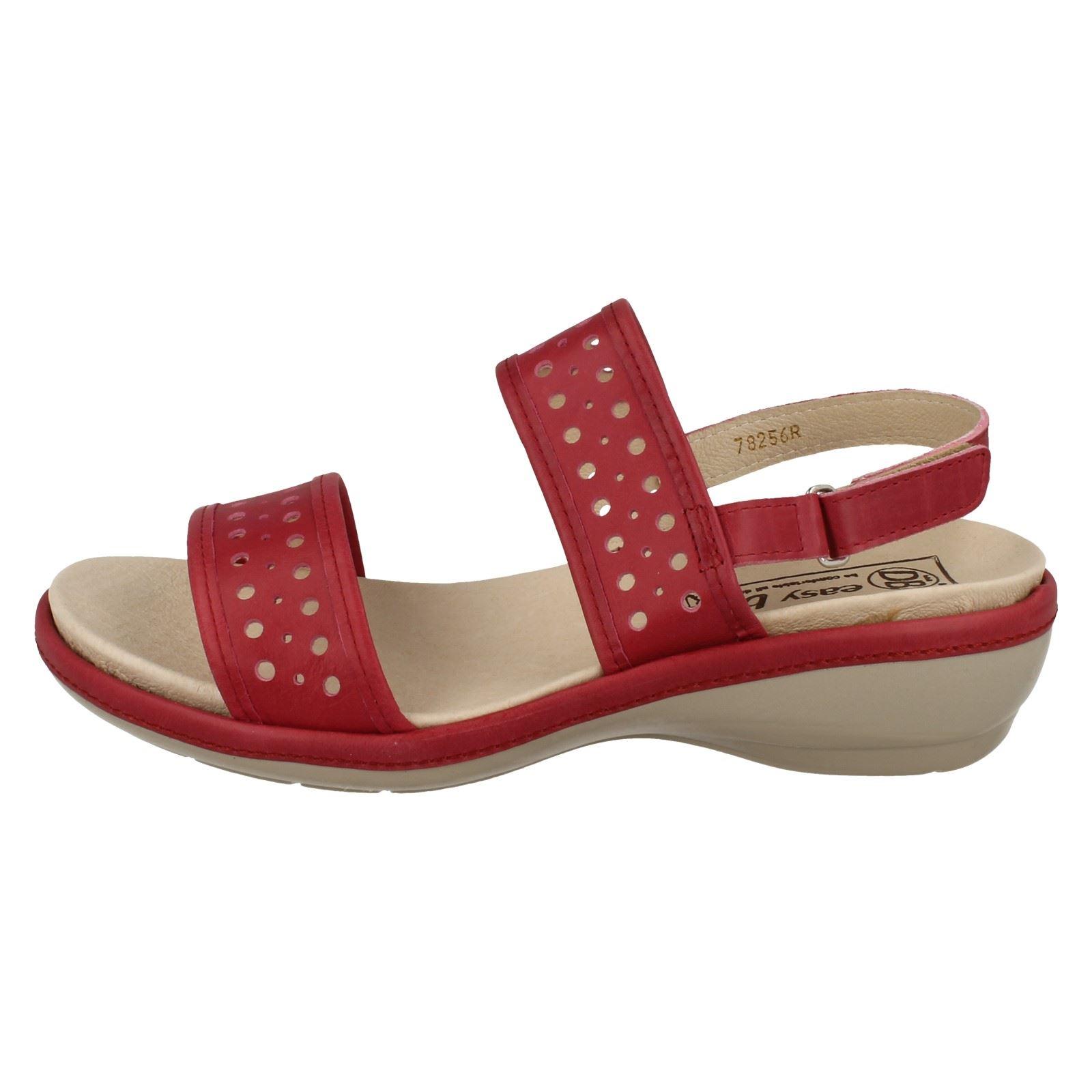Easy B Ladies Comfortable Strappy Sandals Crete