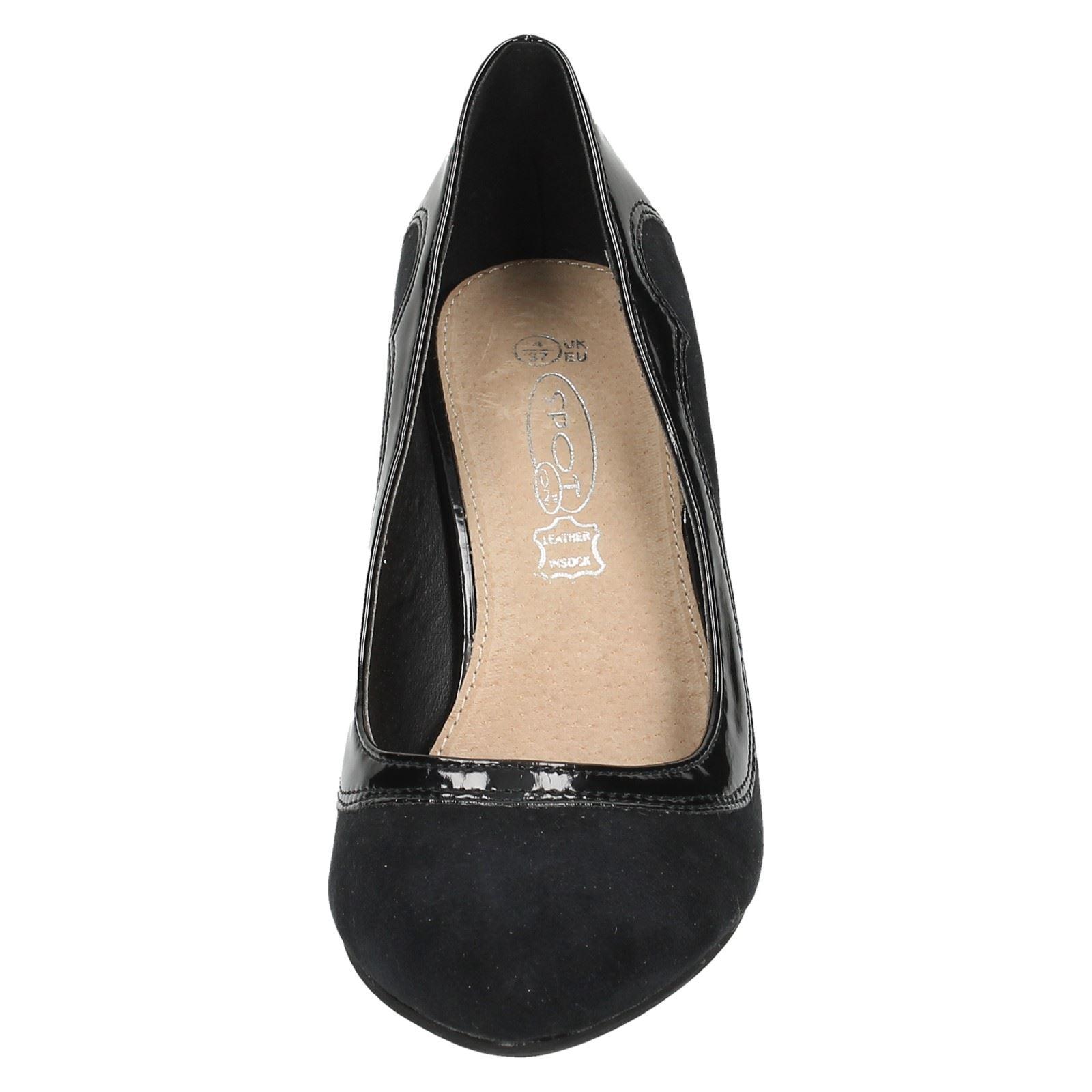 Ladies Spot On Mid Heel /'Court Shoes/'
