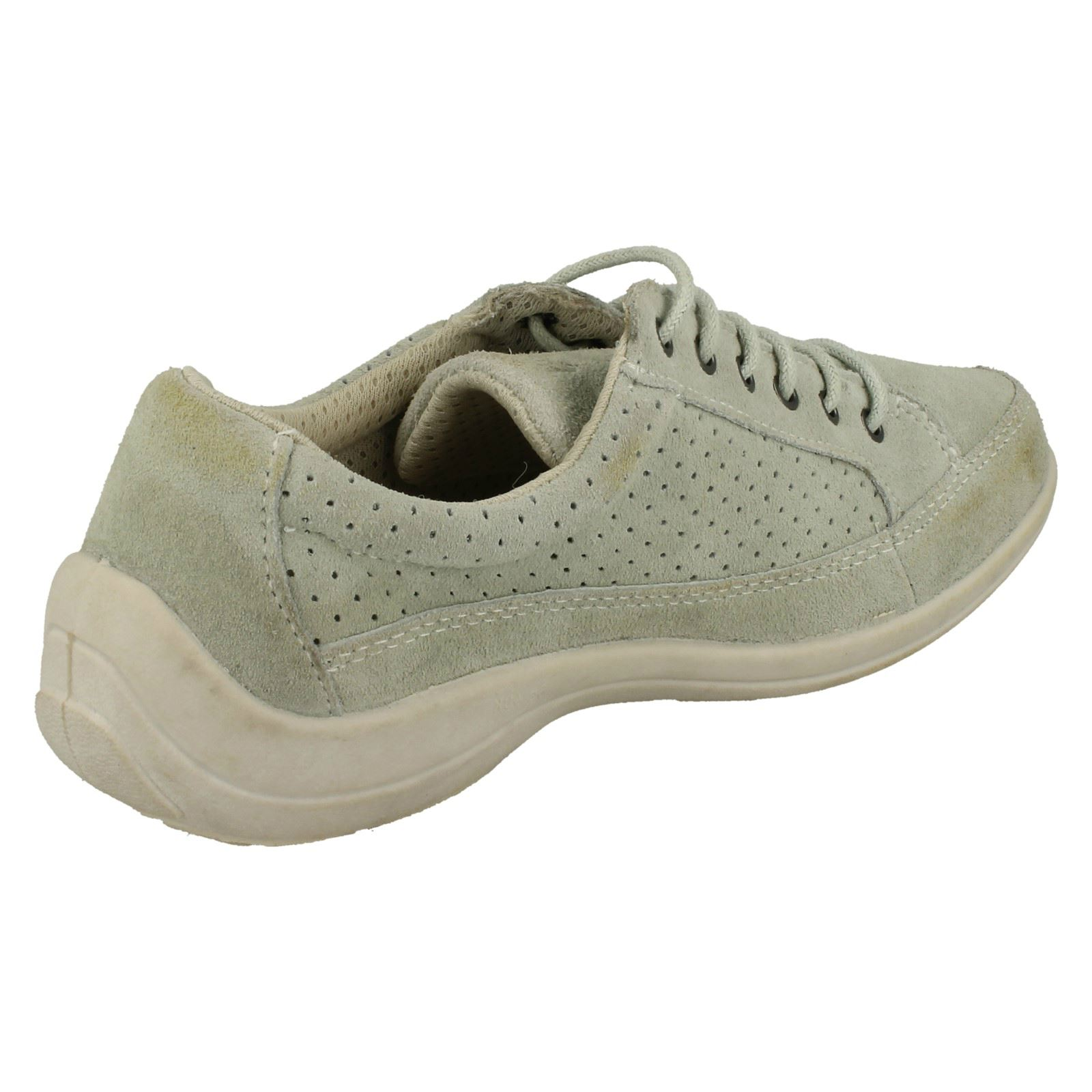Ladies Free Step Casual Lace Up Shoes *Crocus*