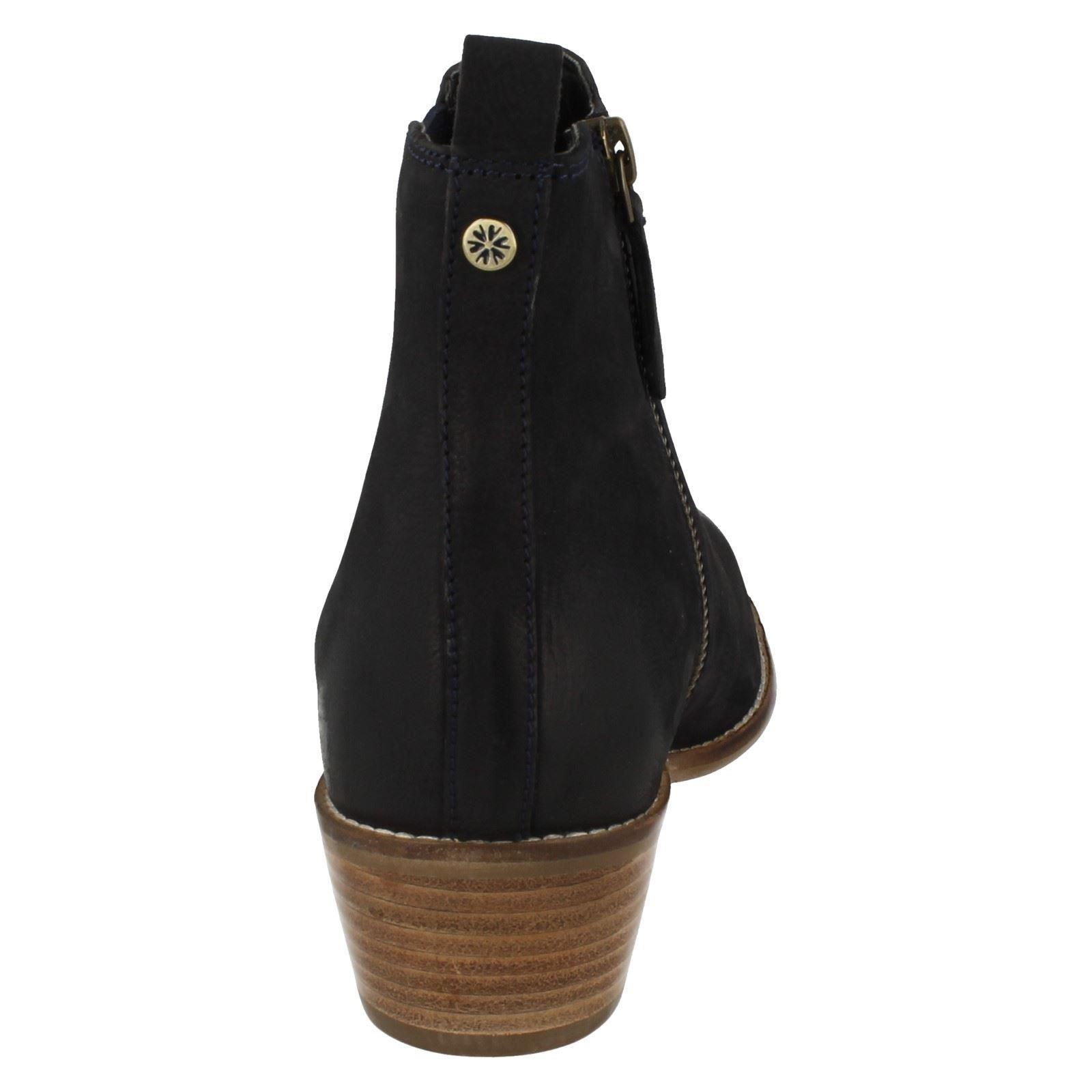 Ladies Van Dal Zip Up Nubuck Leather Chelsea Ankle Boots Benton